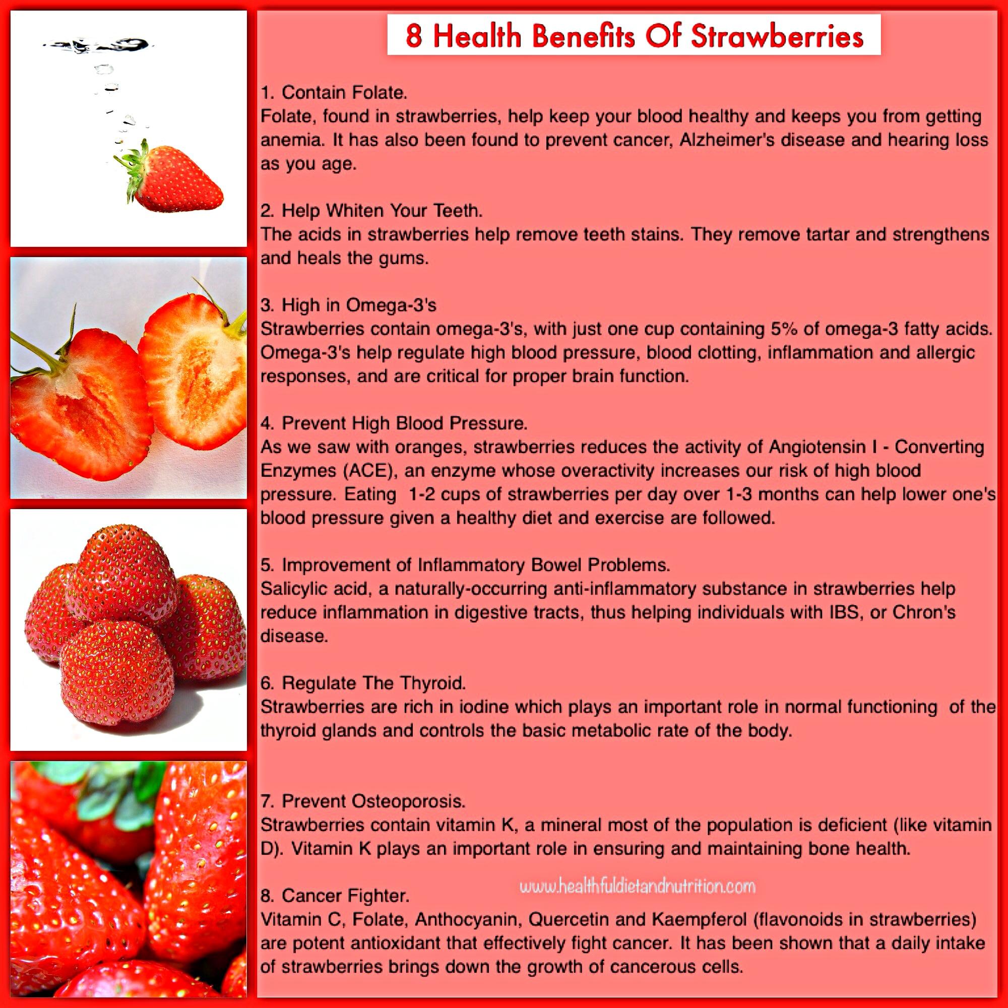8 Health Benefits of Strawberry Fruit