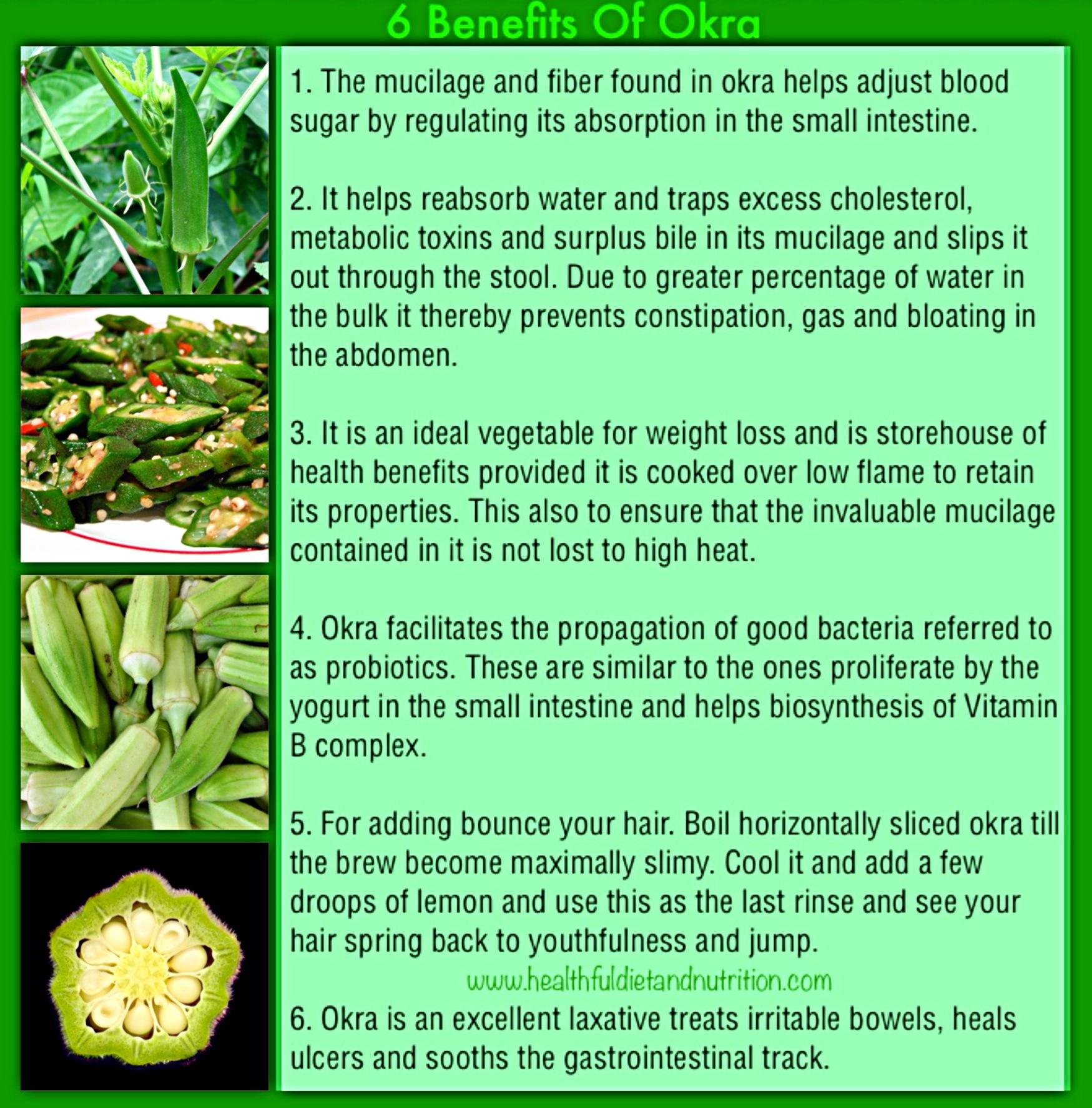 6 Health Benefits of Okra