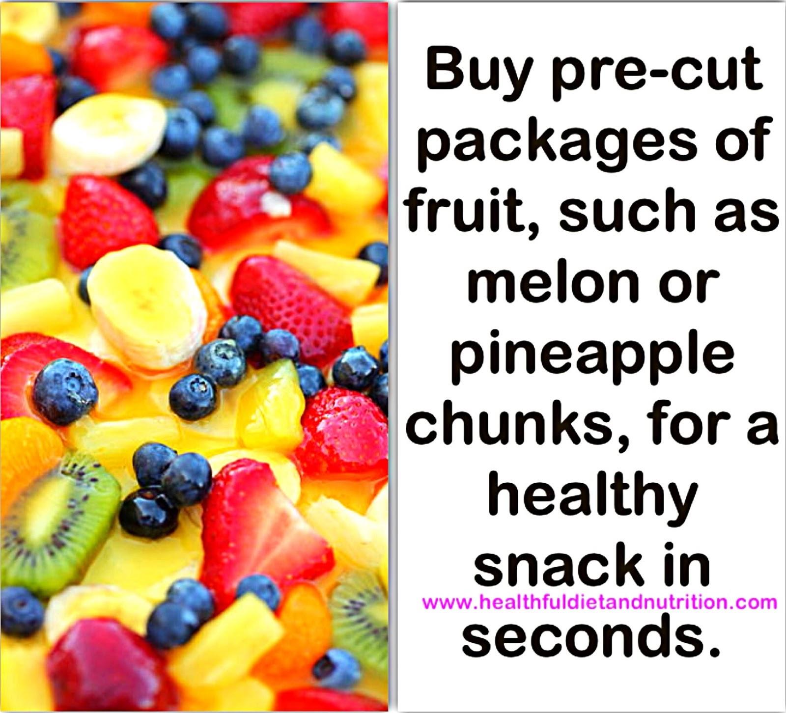 Buy Pre-Cut Packages of Fruits