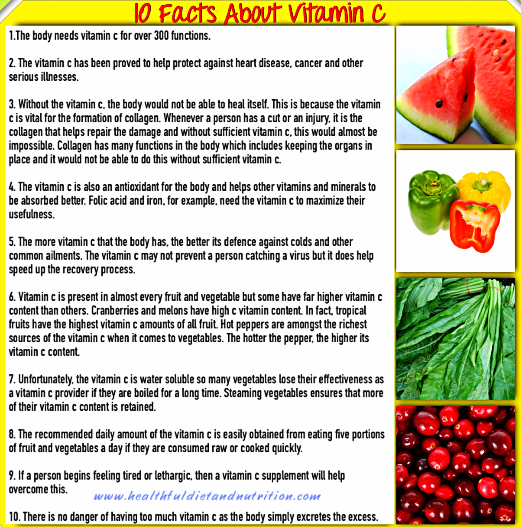 10 Facts About Vitamin C