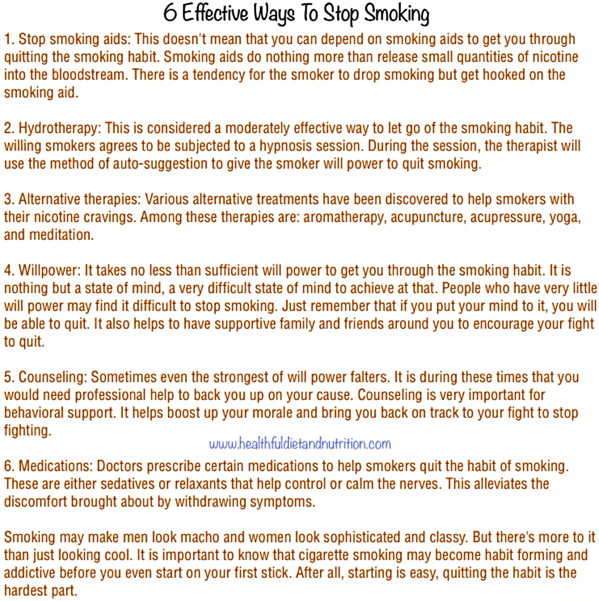 6 Effective Ways To Stop Smoking