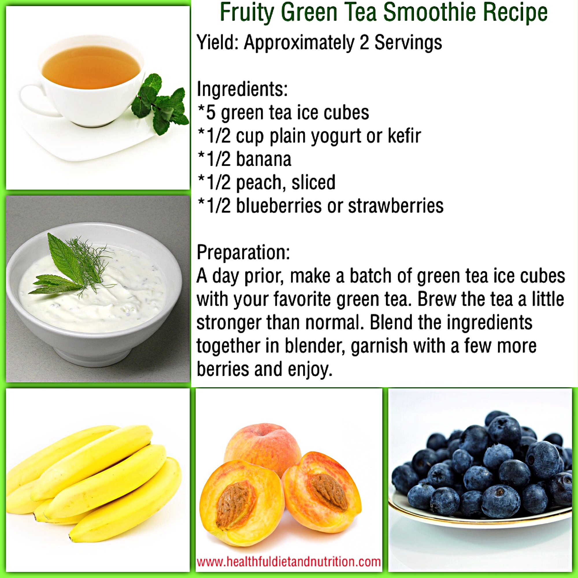 Fruity Green Tea Smoothie