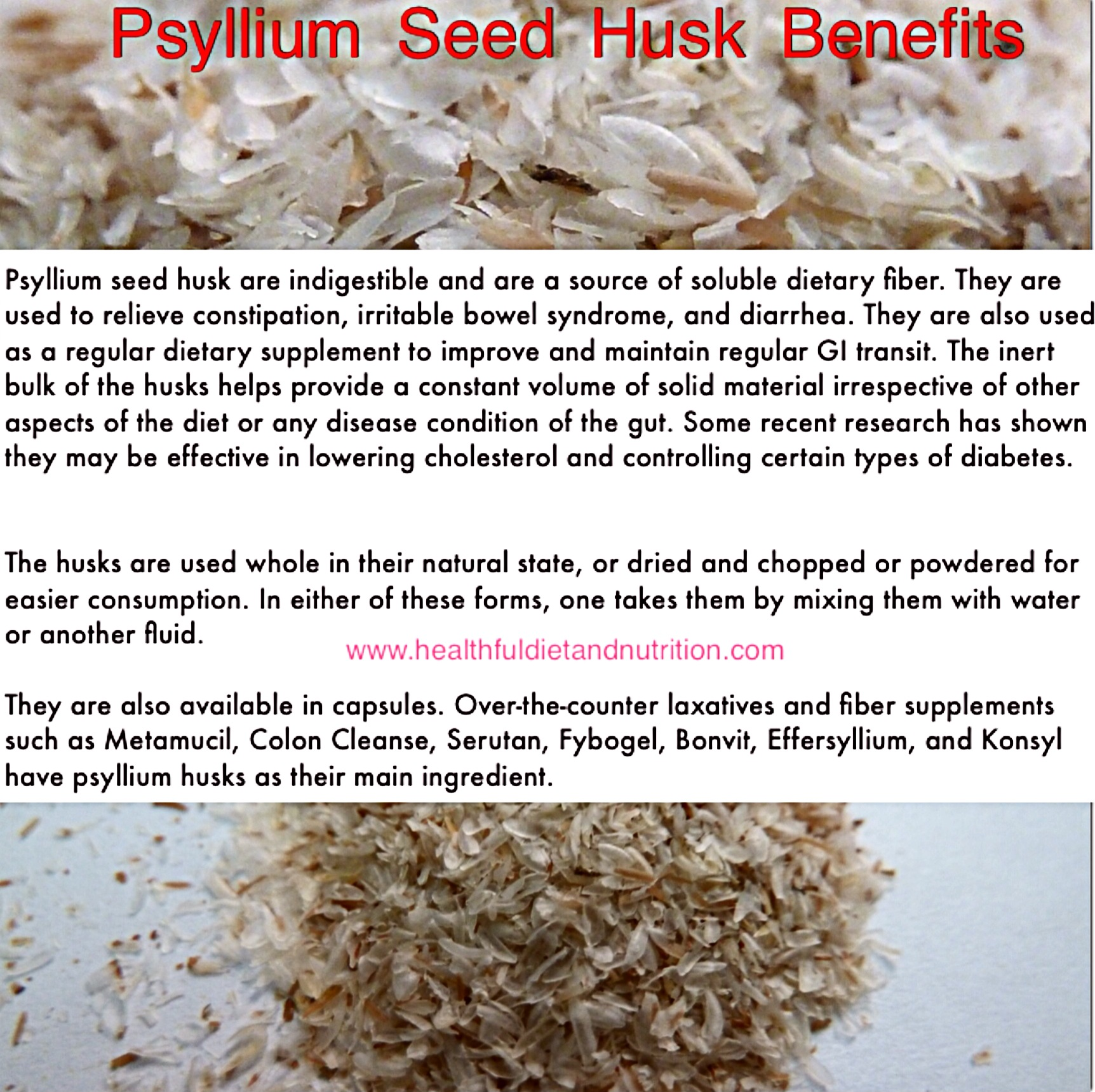 Psyllium Seed Husk Health Benefits