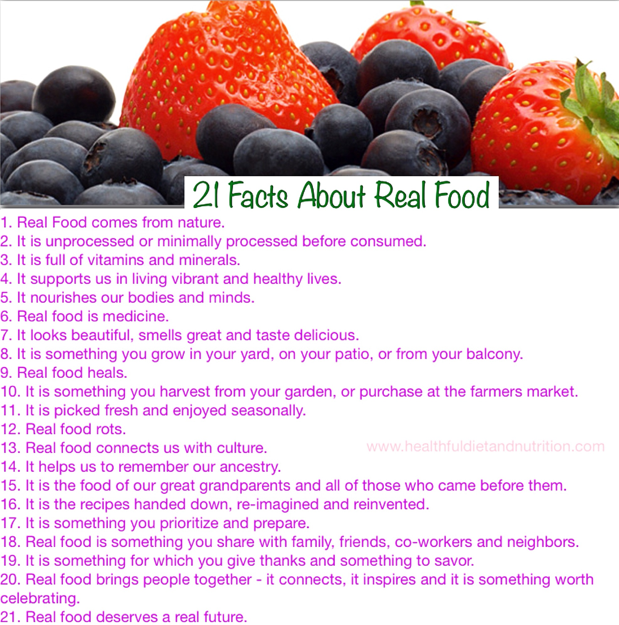 21 Facts About Real Food