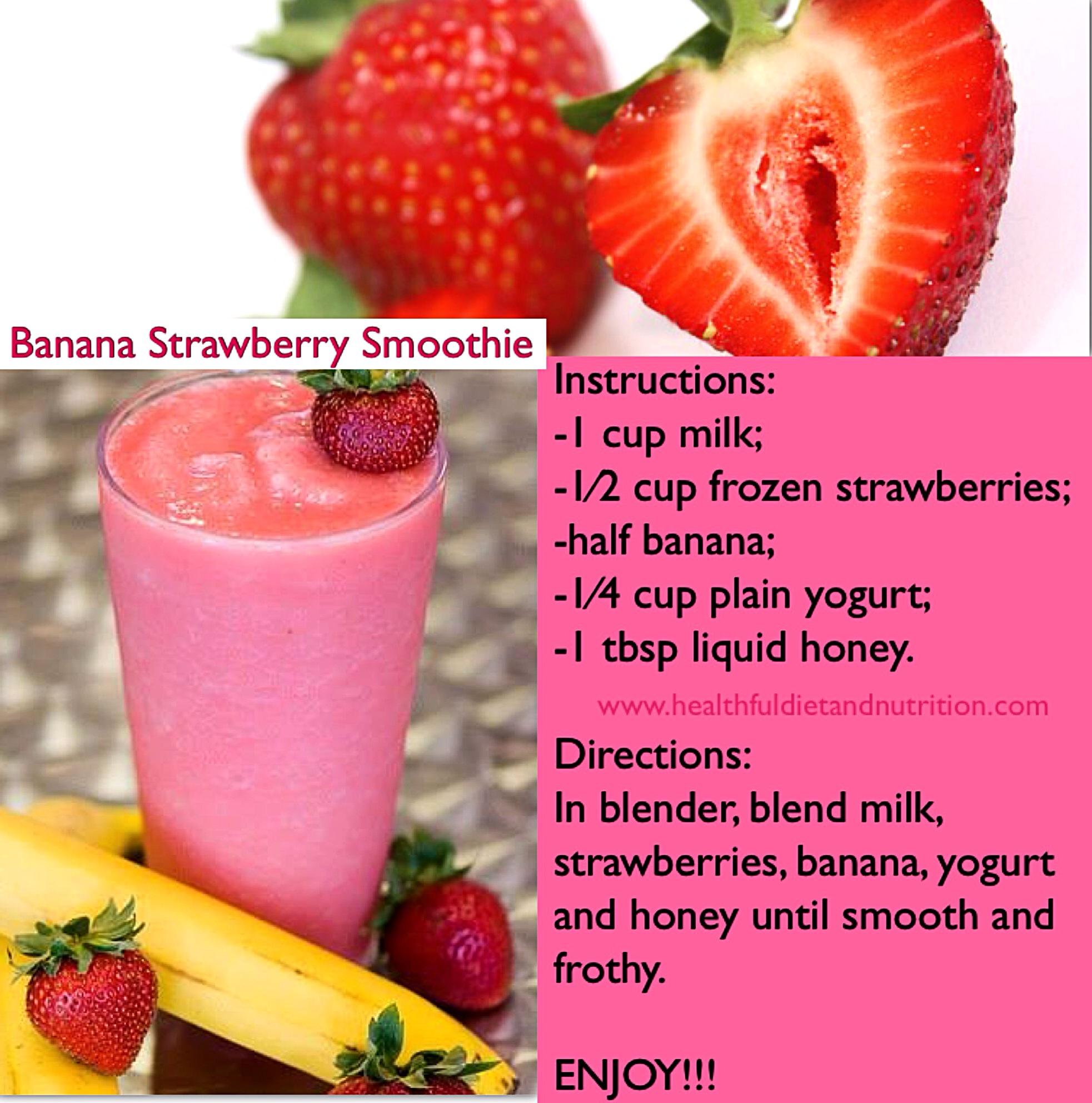 Banana, Strawberry Smoothie