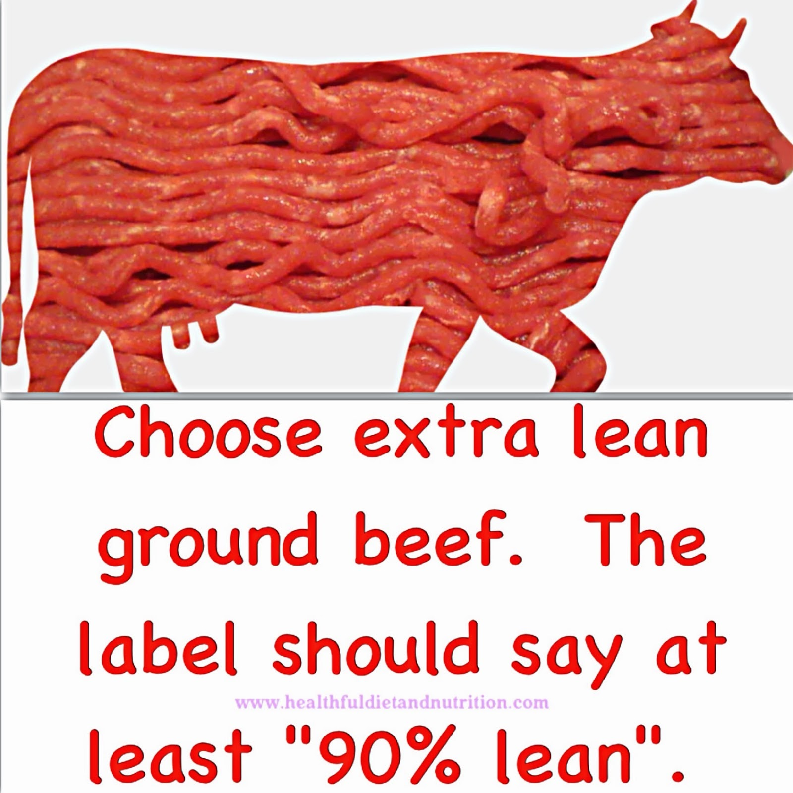 Choose Extra Lean Ground Beef