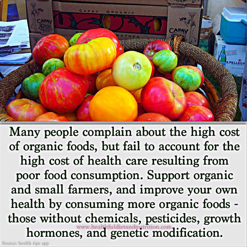 Consume Organic Foods To Support Organic Farmers