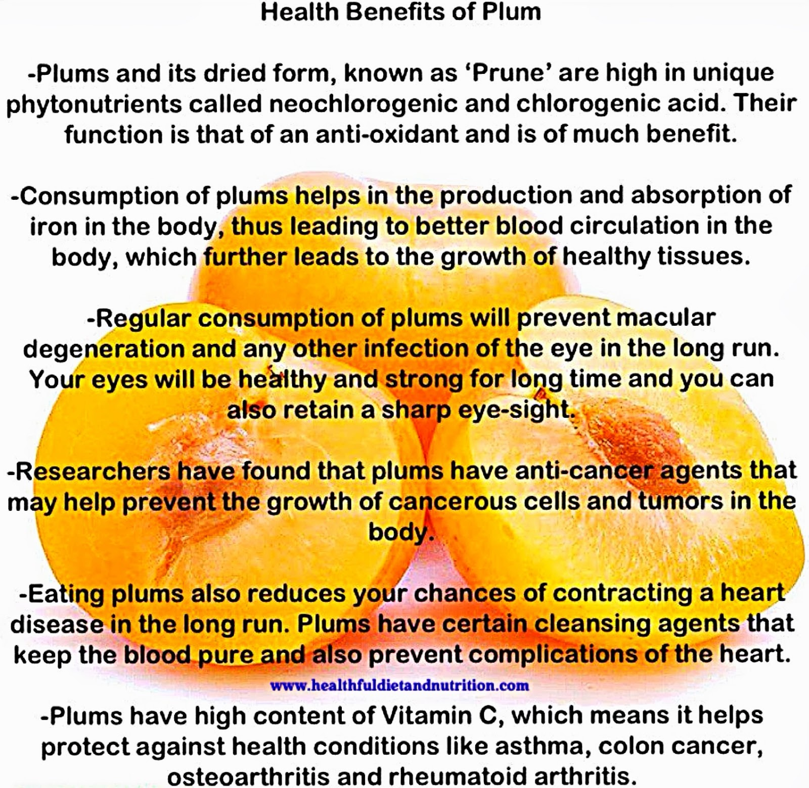 Health Benefits of Plum Fruit