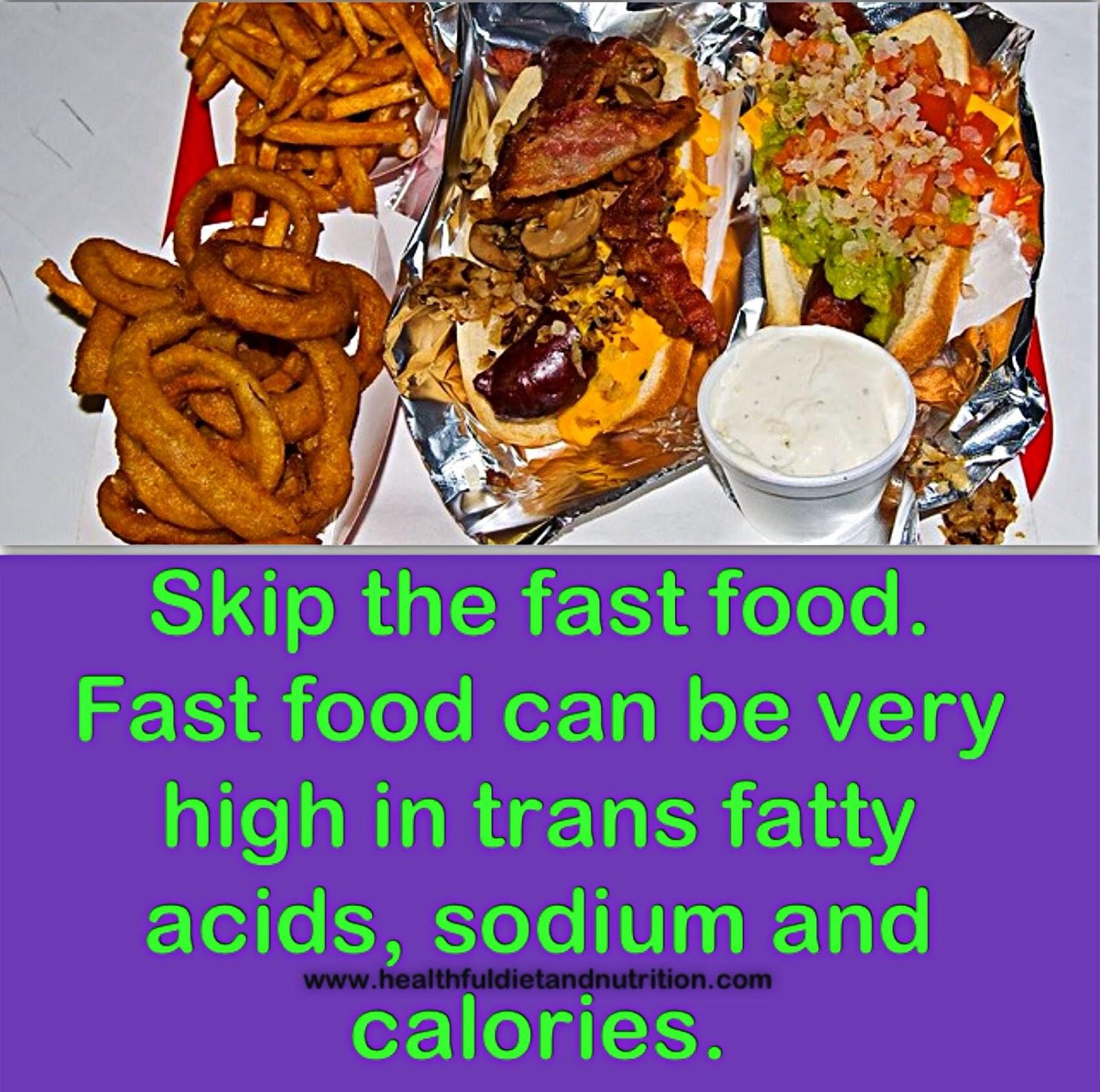 Skip The Fast Food