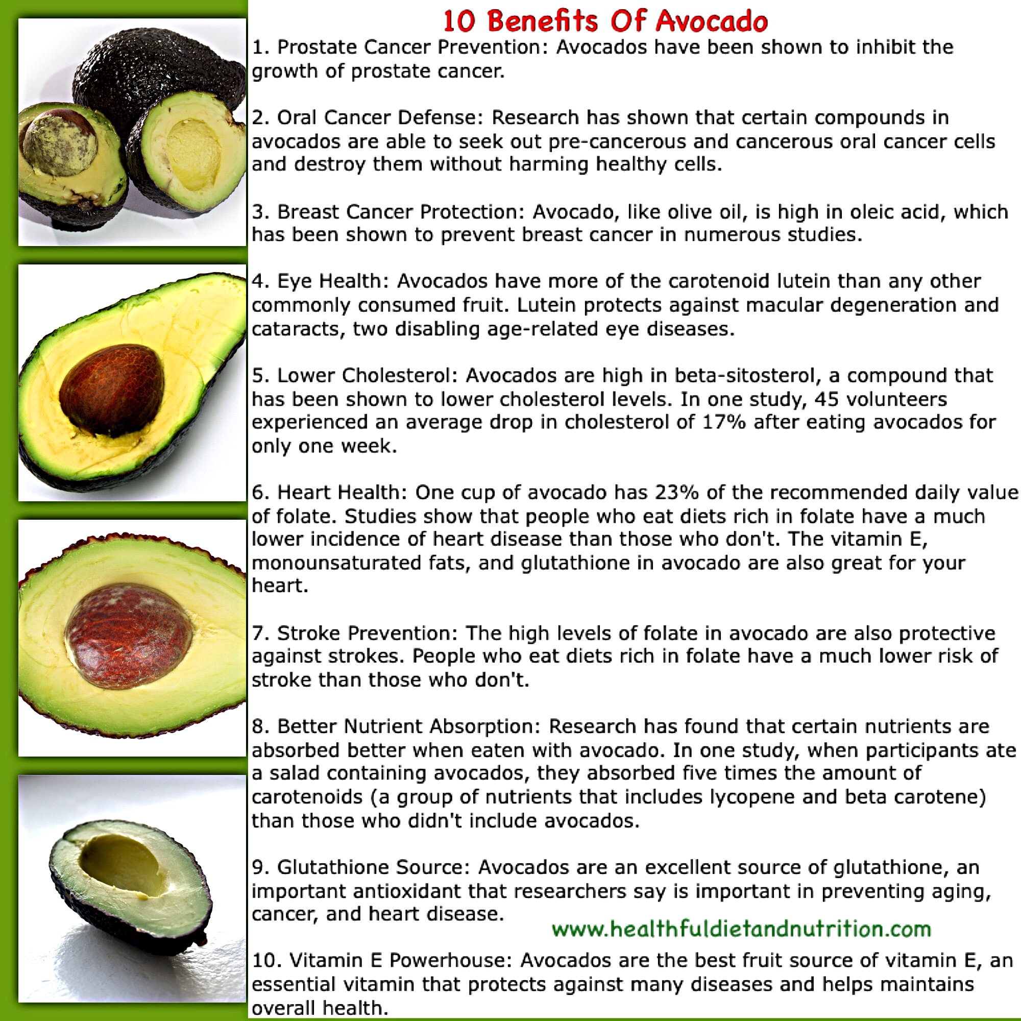 10 Benefits of Avocado