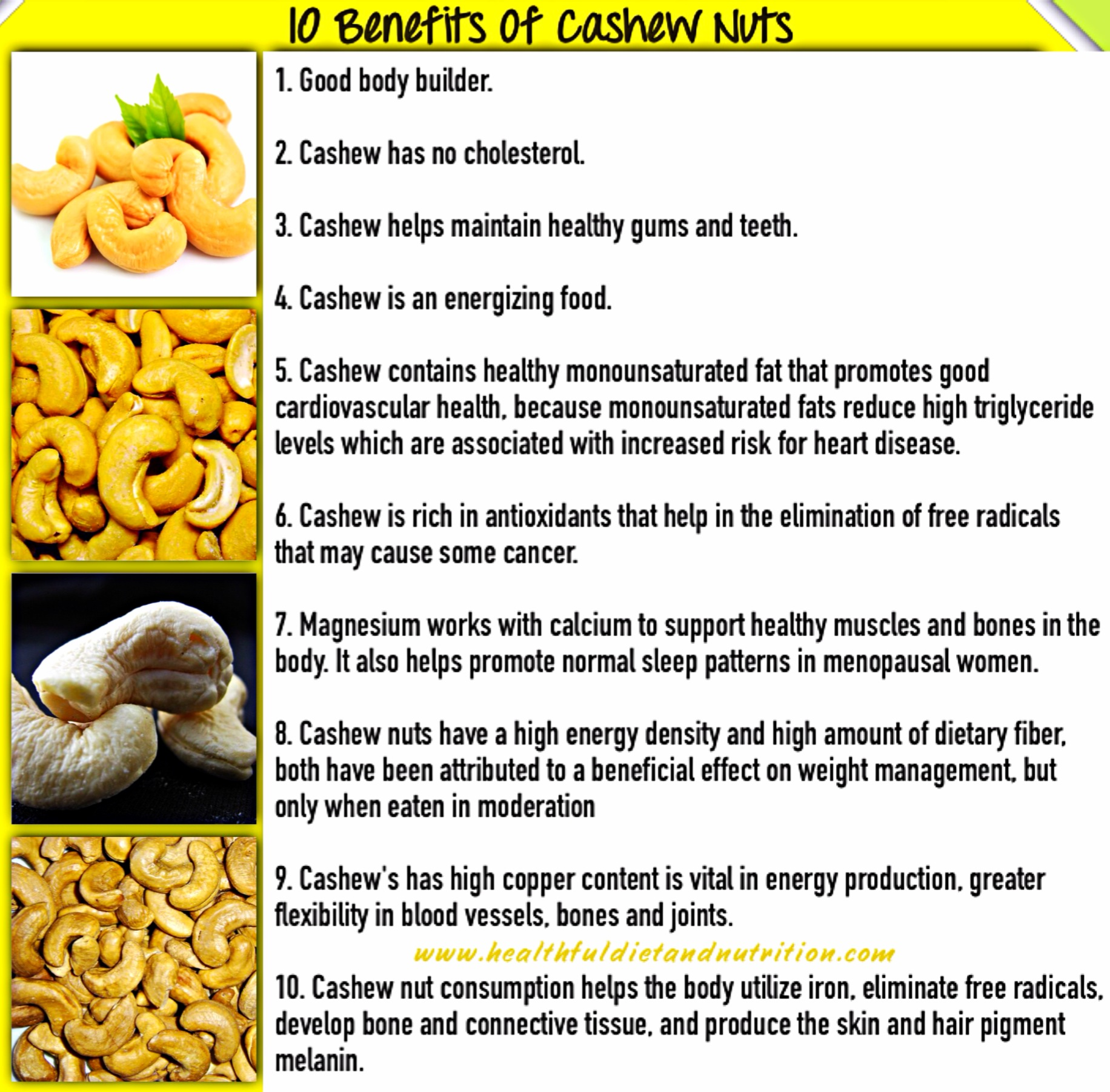 10 Benefits of Cashew Nuts