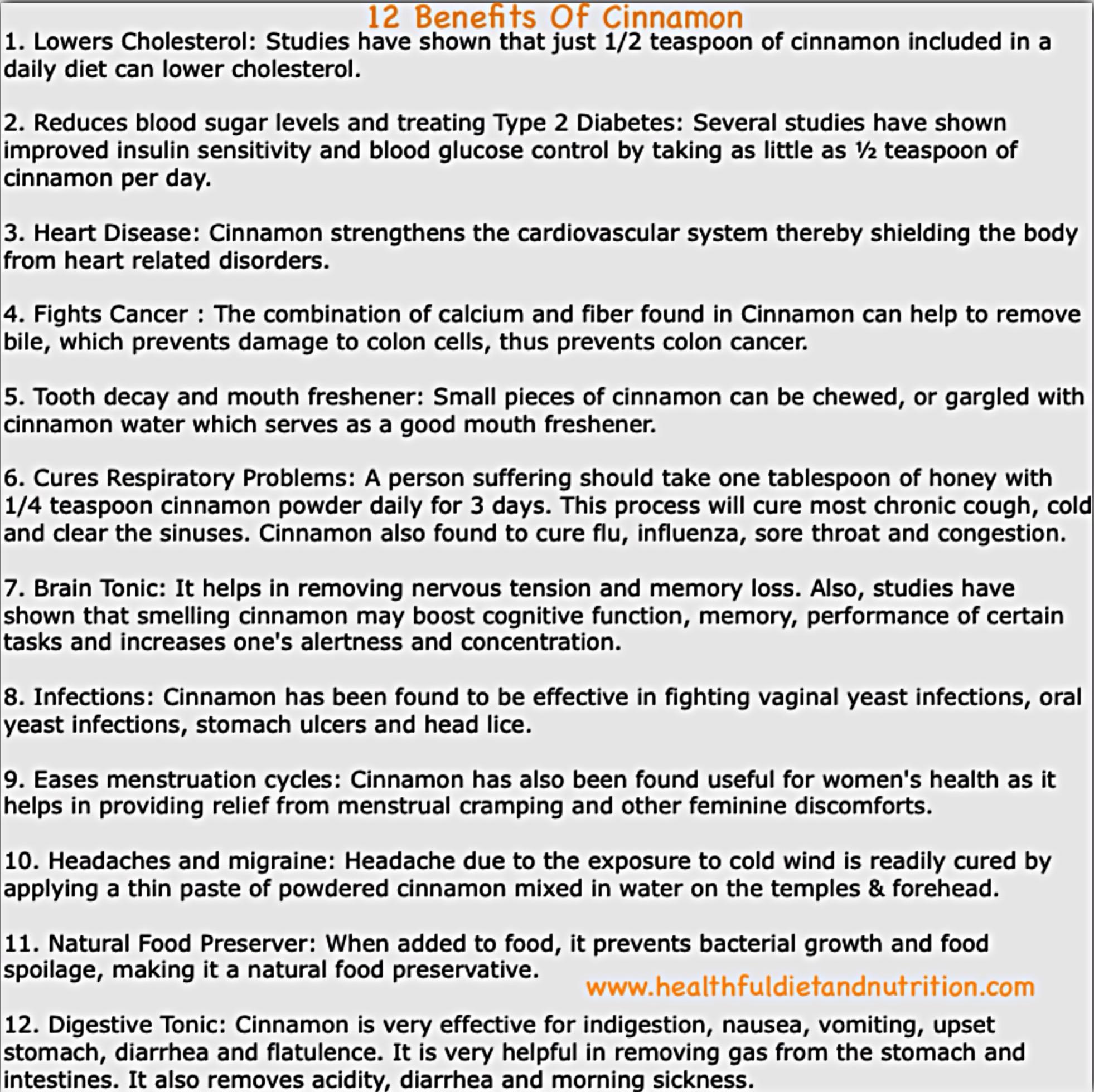 12 Benefits of Cinnamon