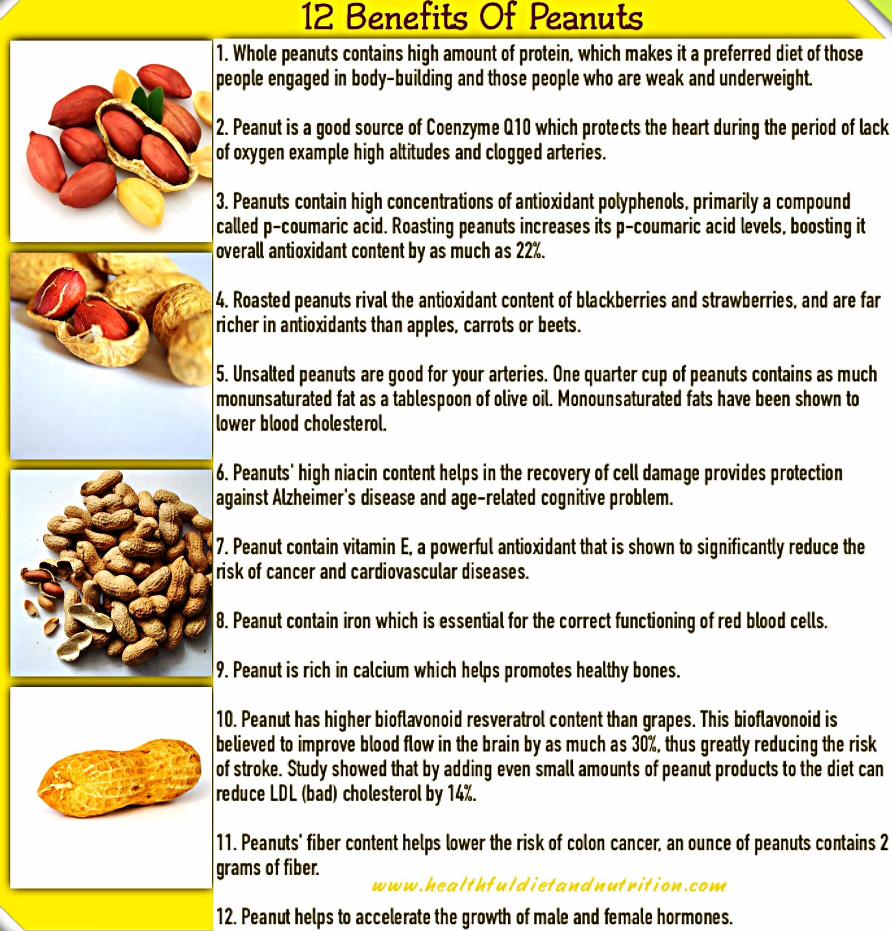 12 Benefits of Peanuts