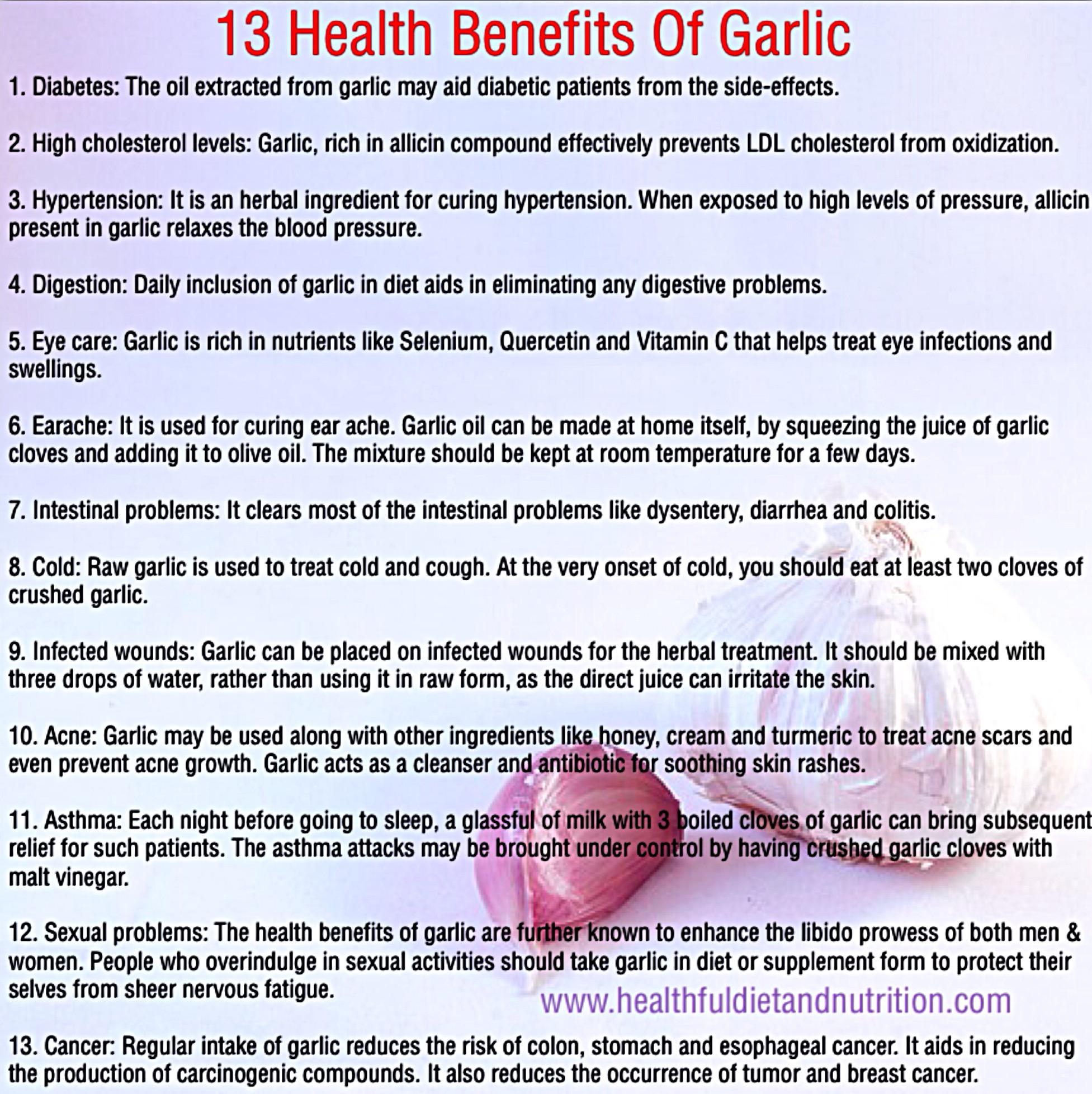 13 Benefits Of Garlic