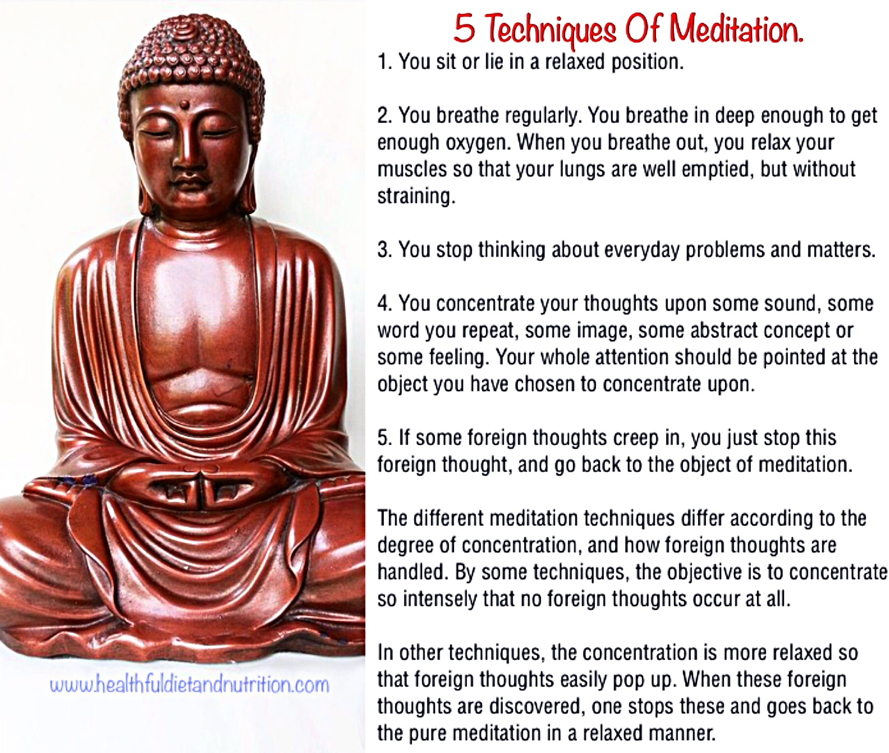 5 Techniques Of Meditation