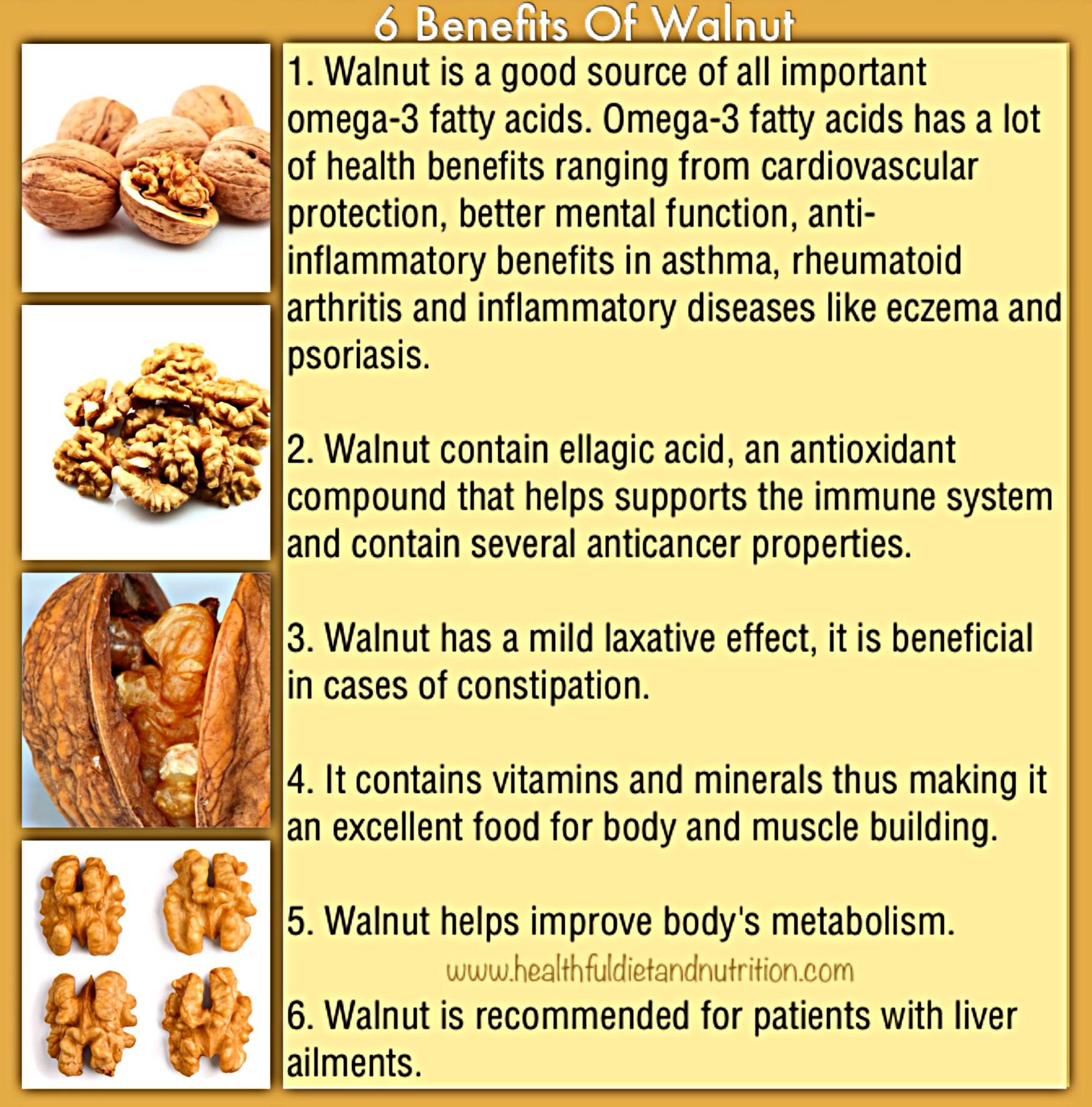 6 Benefits of Walnut
