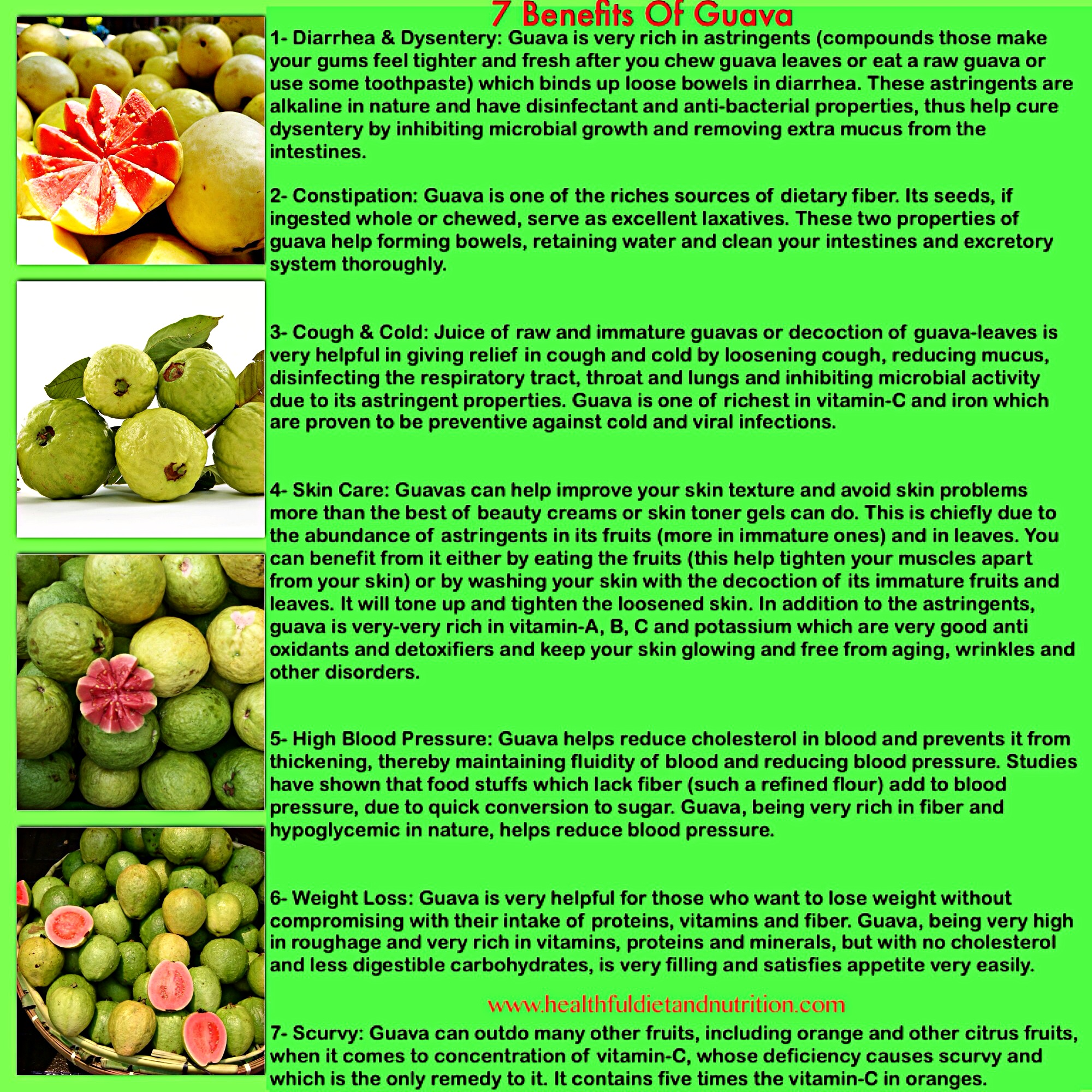 7 Benefits of Guava Fruit