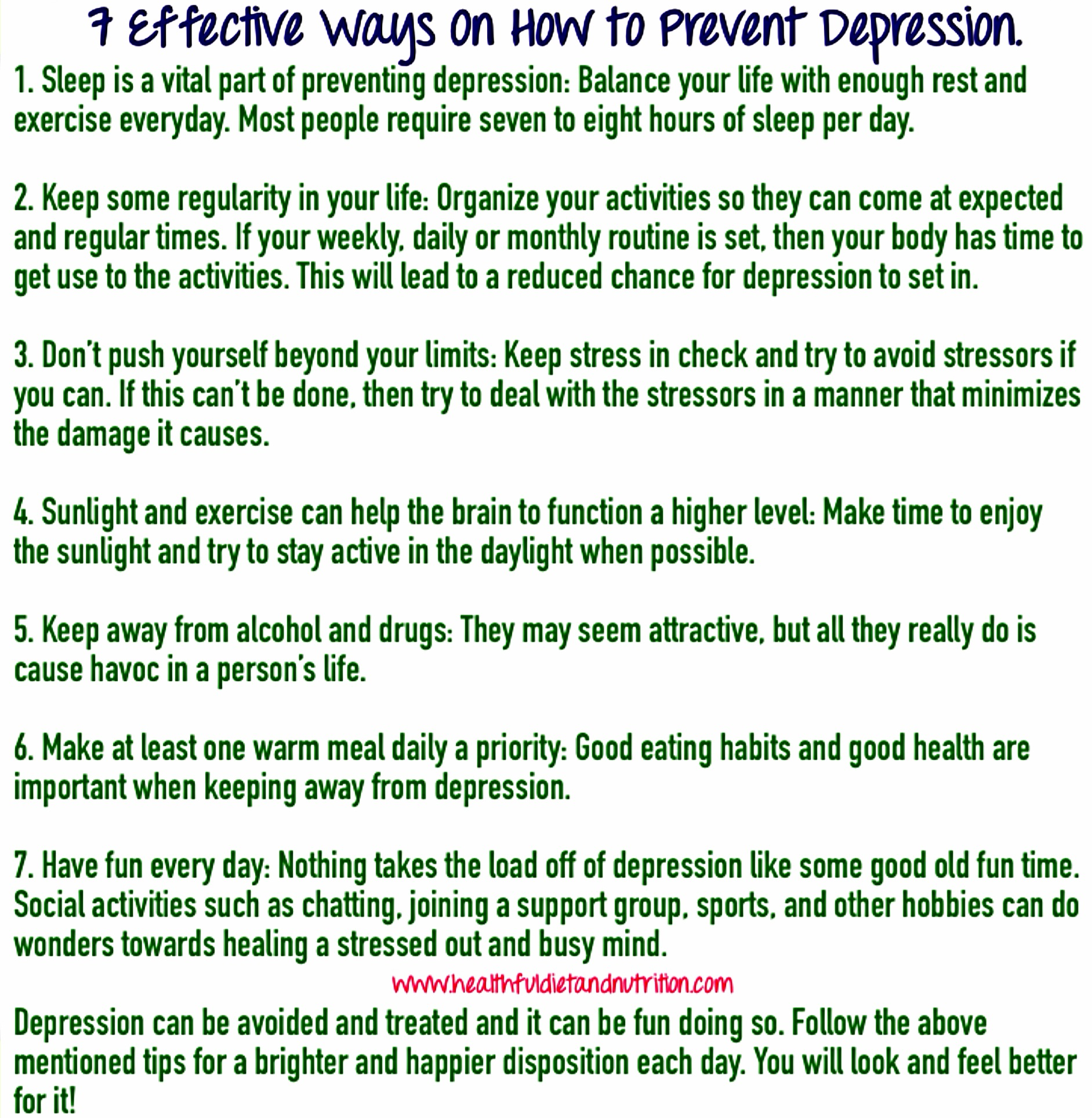 7 Ways To Prevent Depression