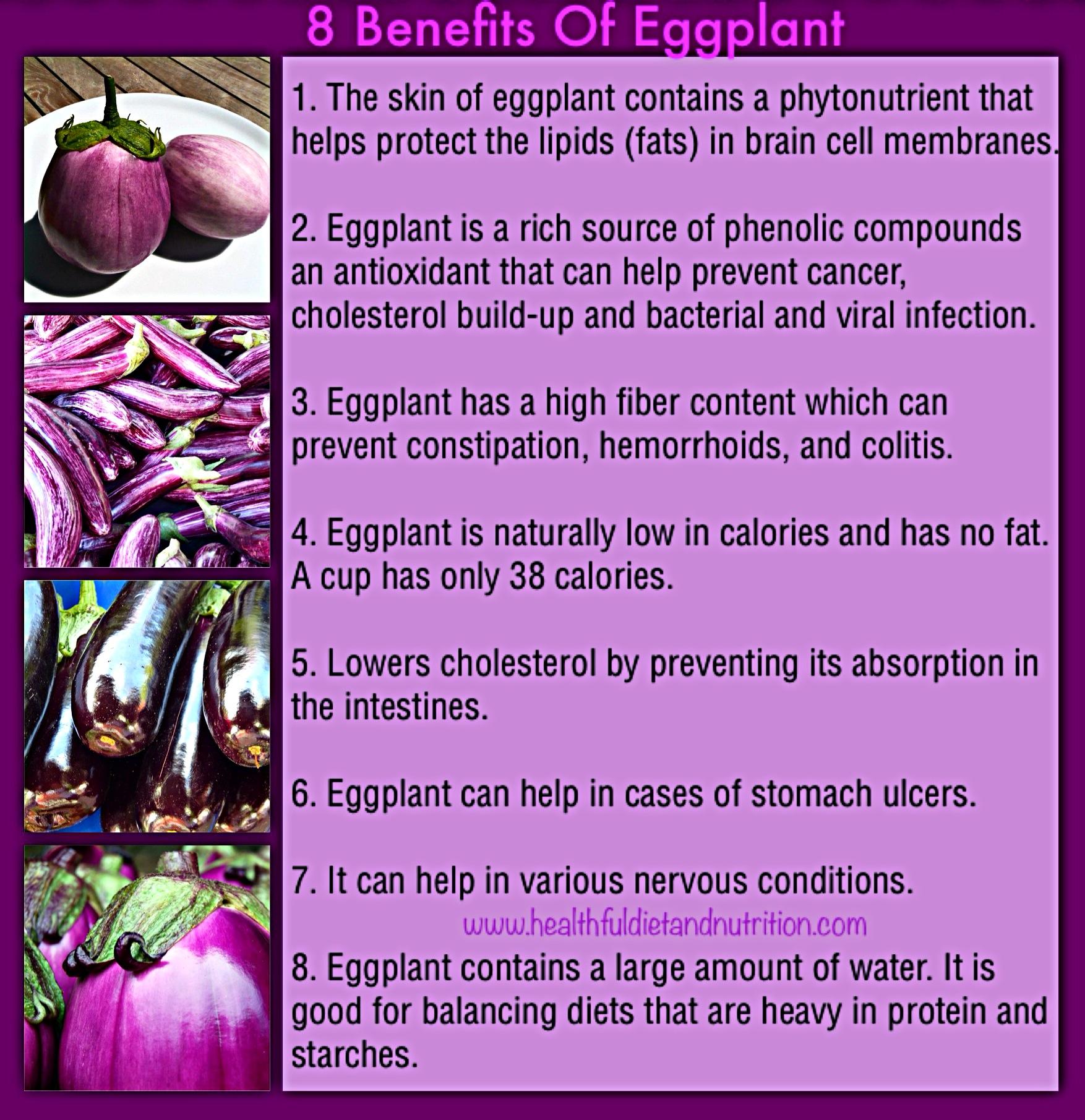 8 Benefits of Eggplant