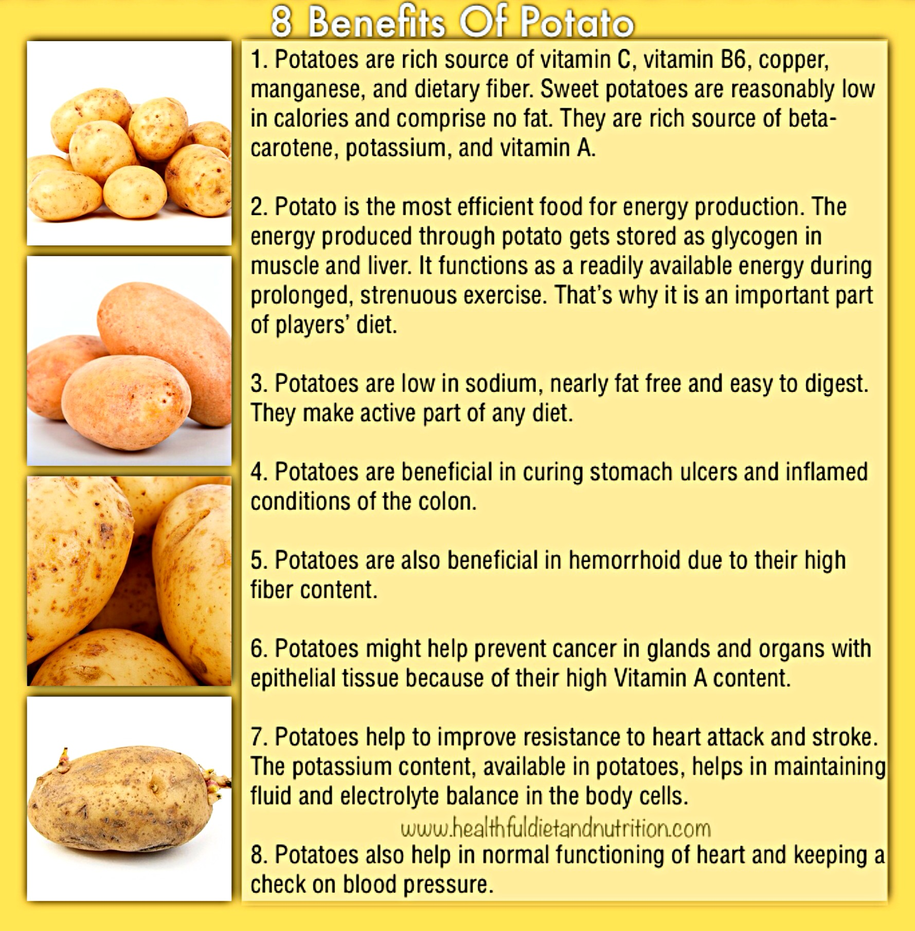 8 Benefits Of Potato