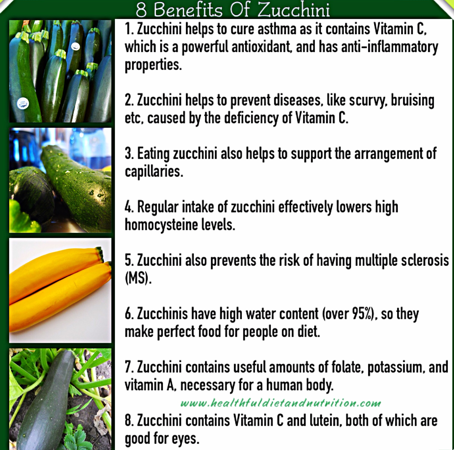 8 Benefits Of Zucchini
