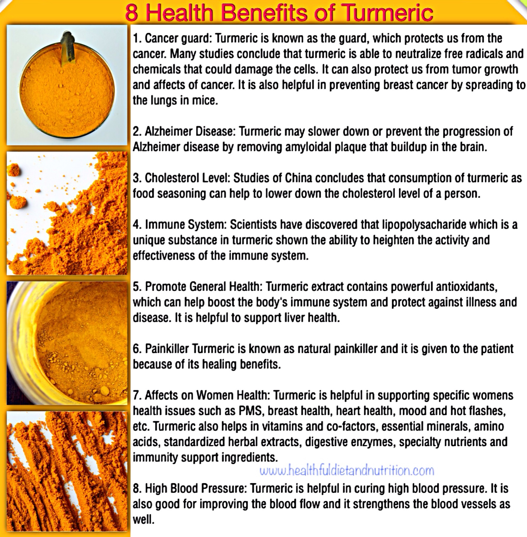 8 Benefits of Turmeric