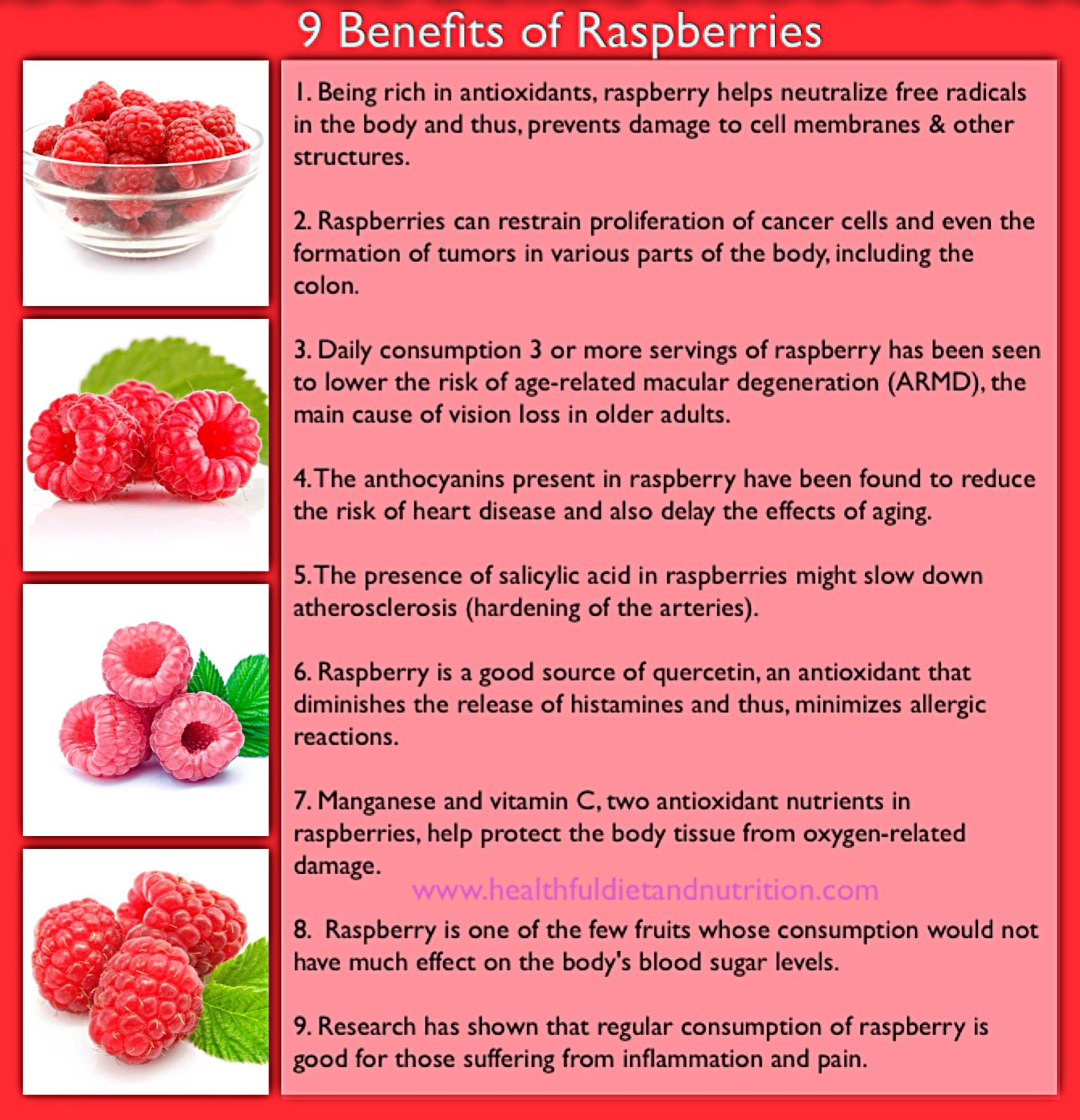 9 Benefits of Raspberries
