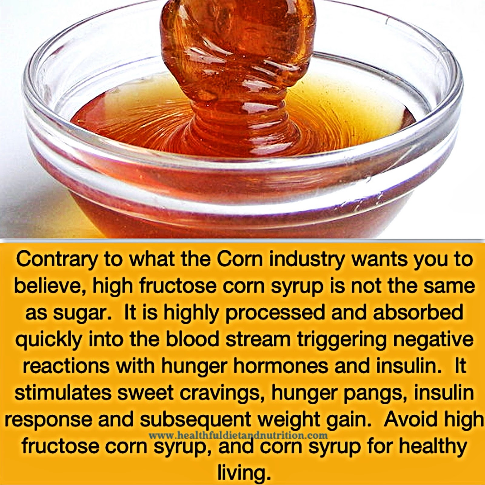 Avoid High Fructose Corn Syrup and Corn Syrup