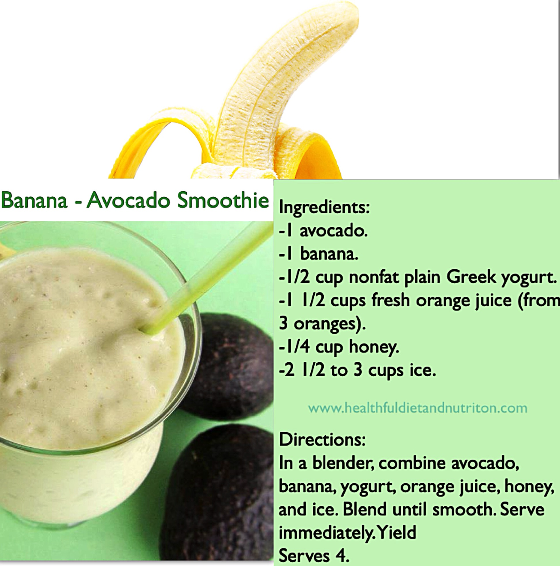 Banana-Avocado Smoothie