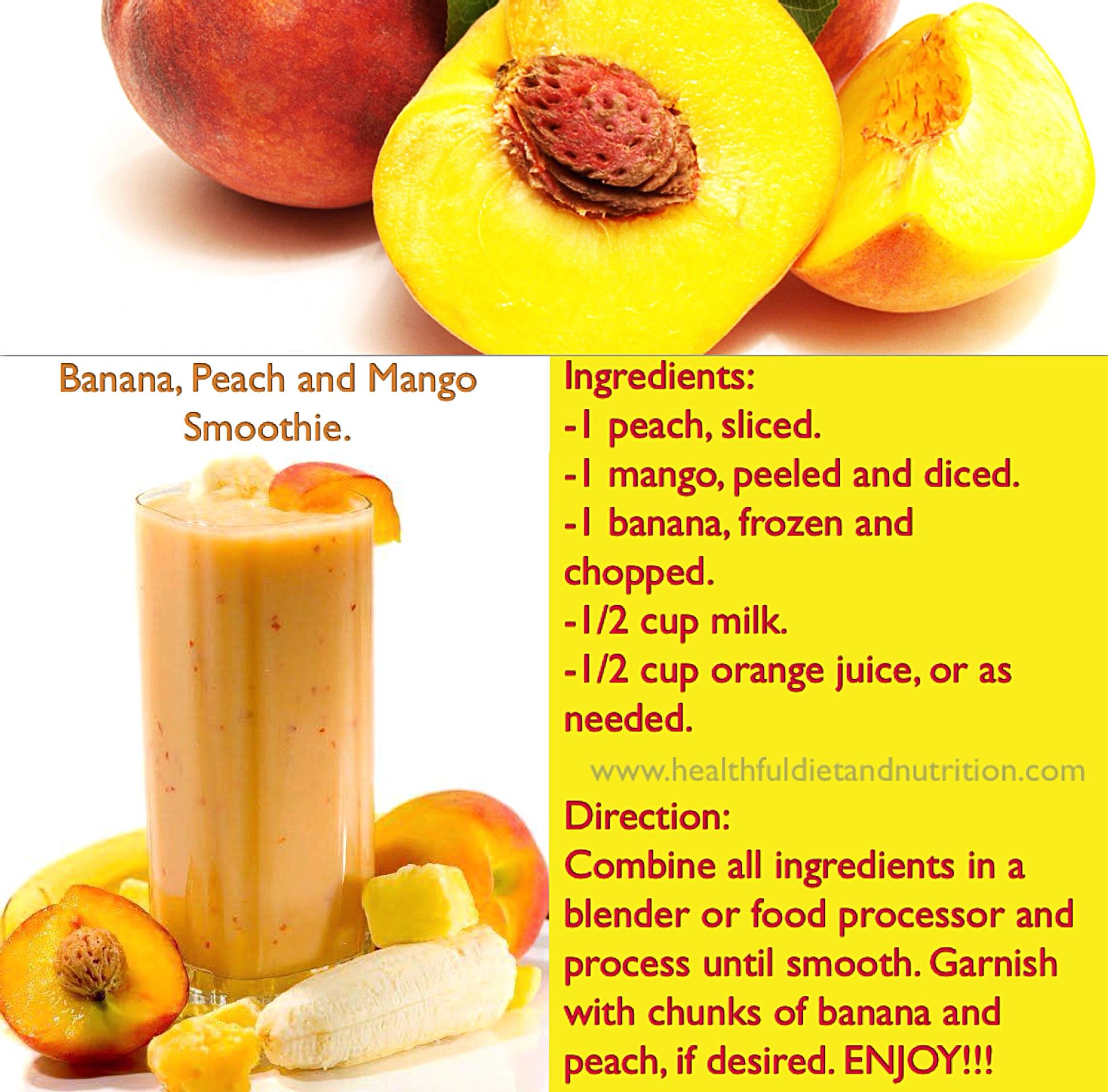 Banana, Peach and Mango Smoothie