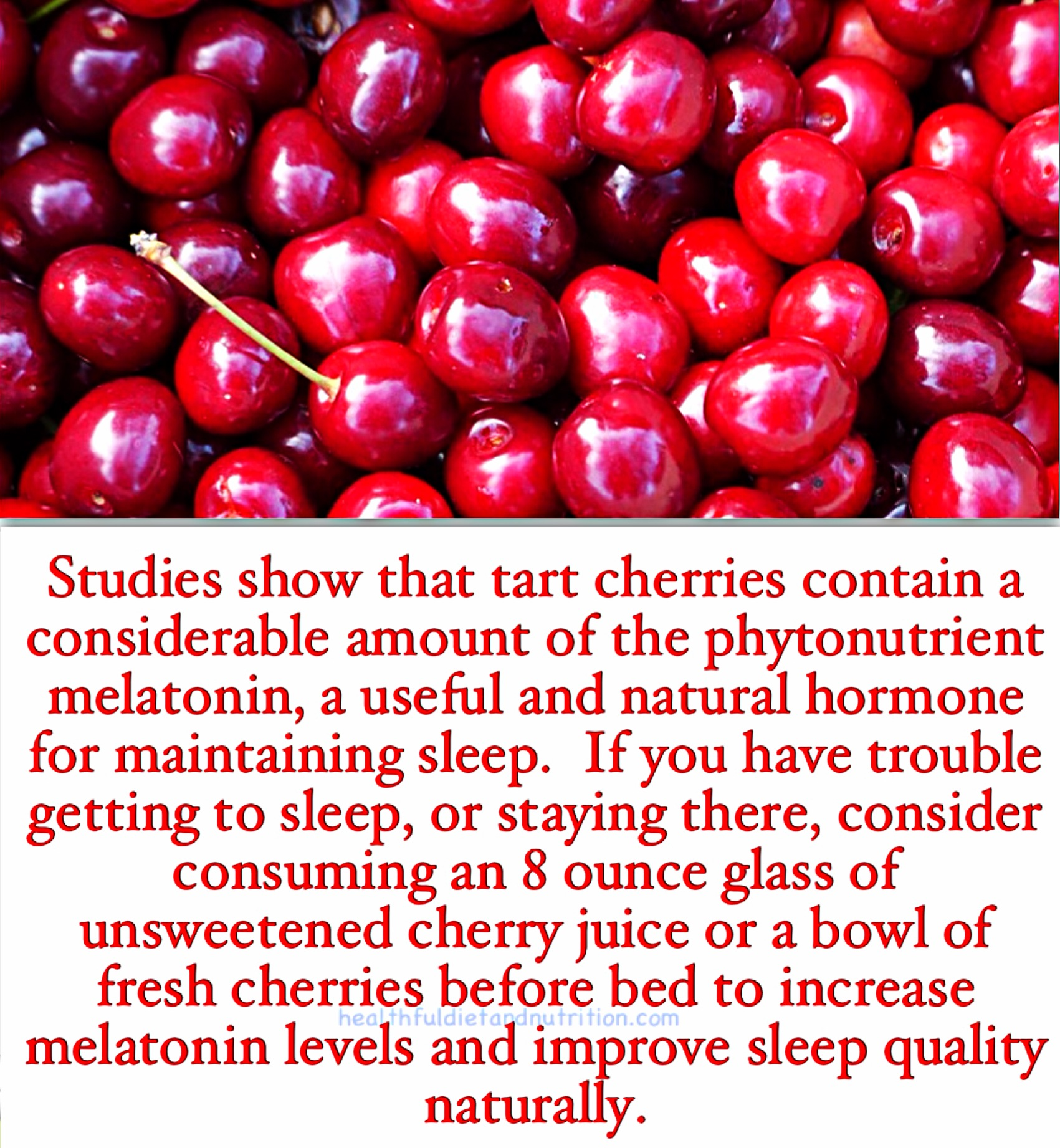 Consume Cherries To Improve Sleep Quality