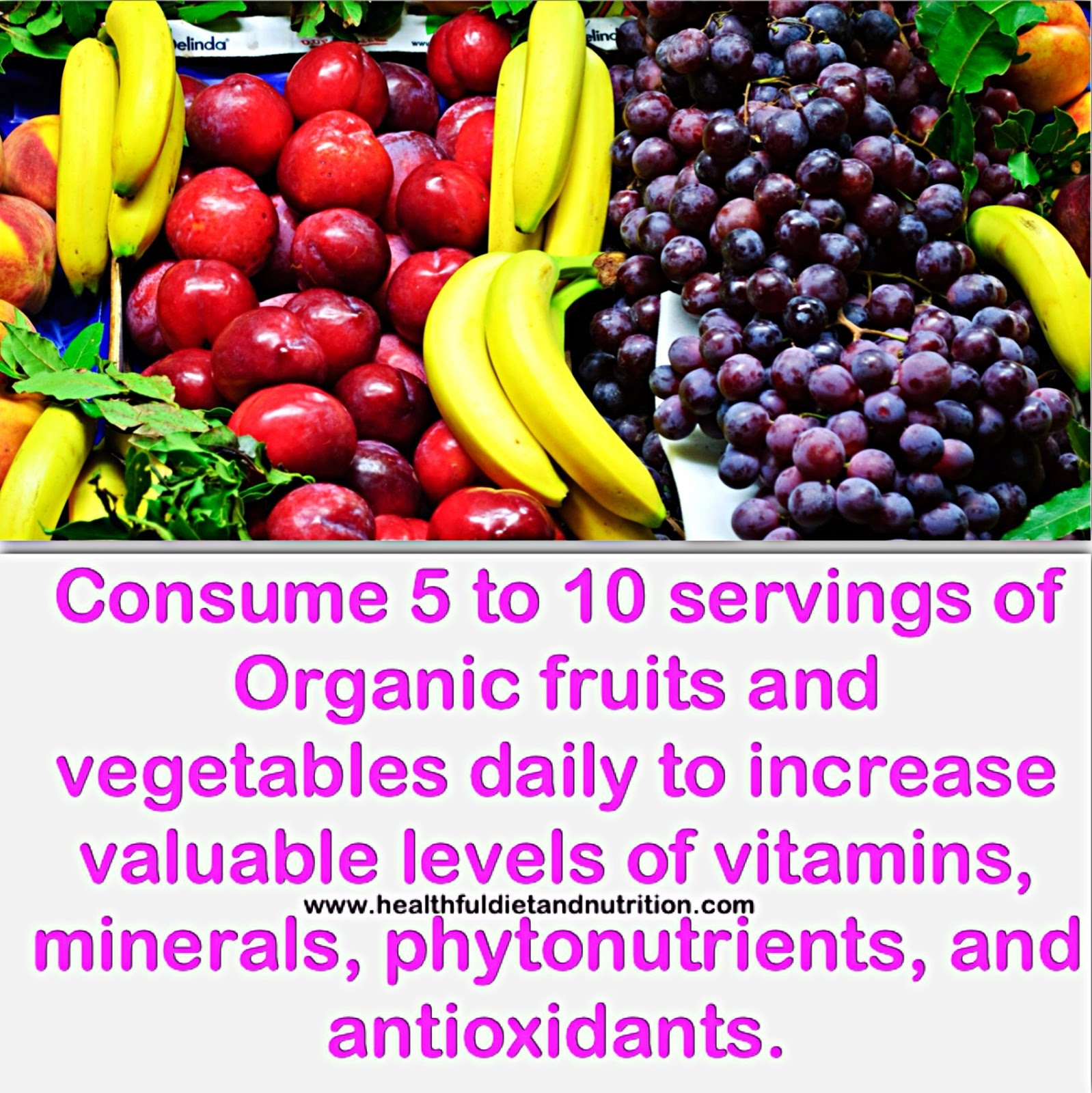 Consume Organic Fruits and Vegetables Daily