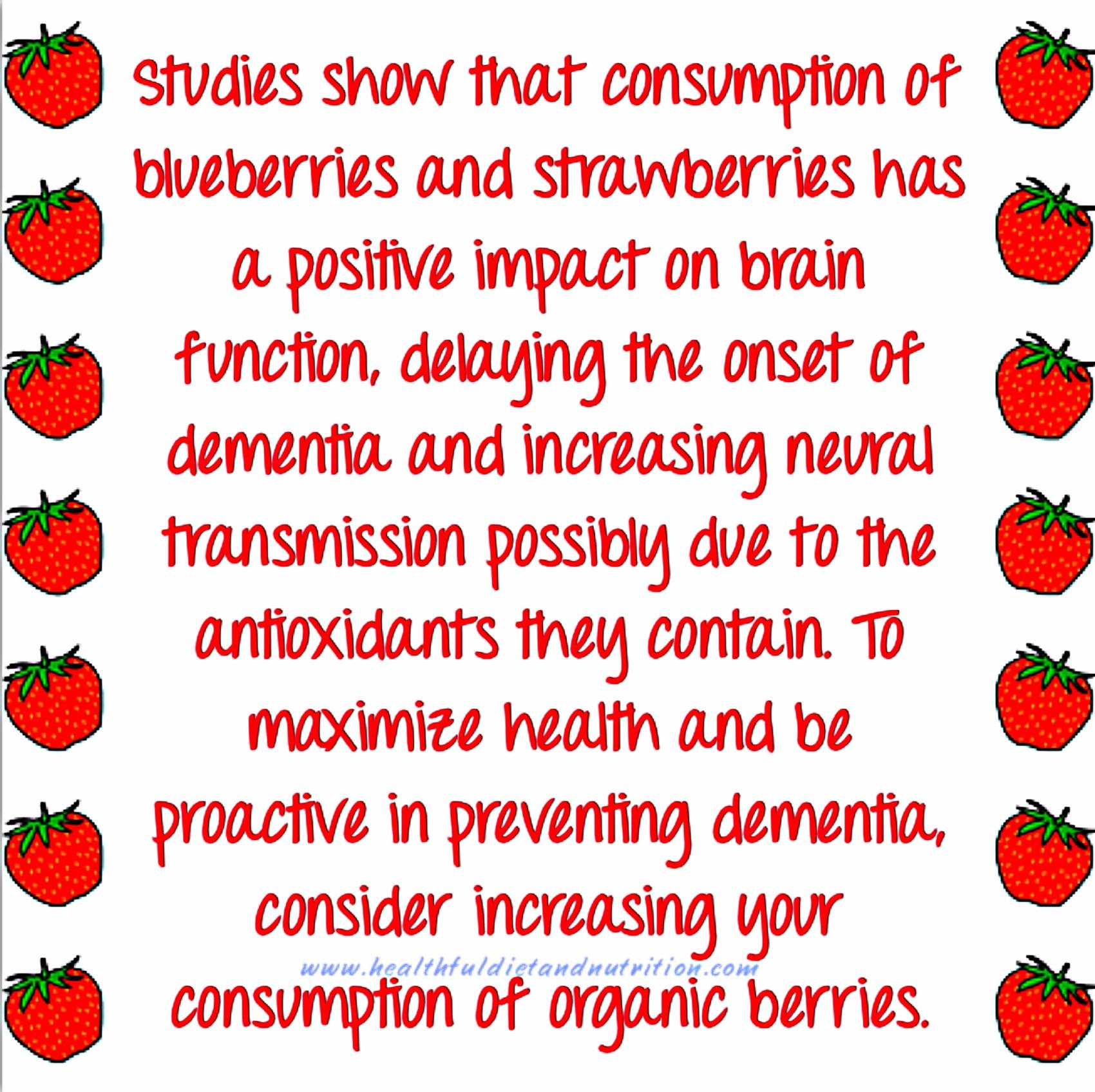 Organic Berries and Brain Health