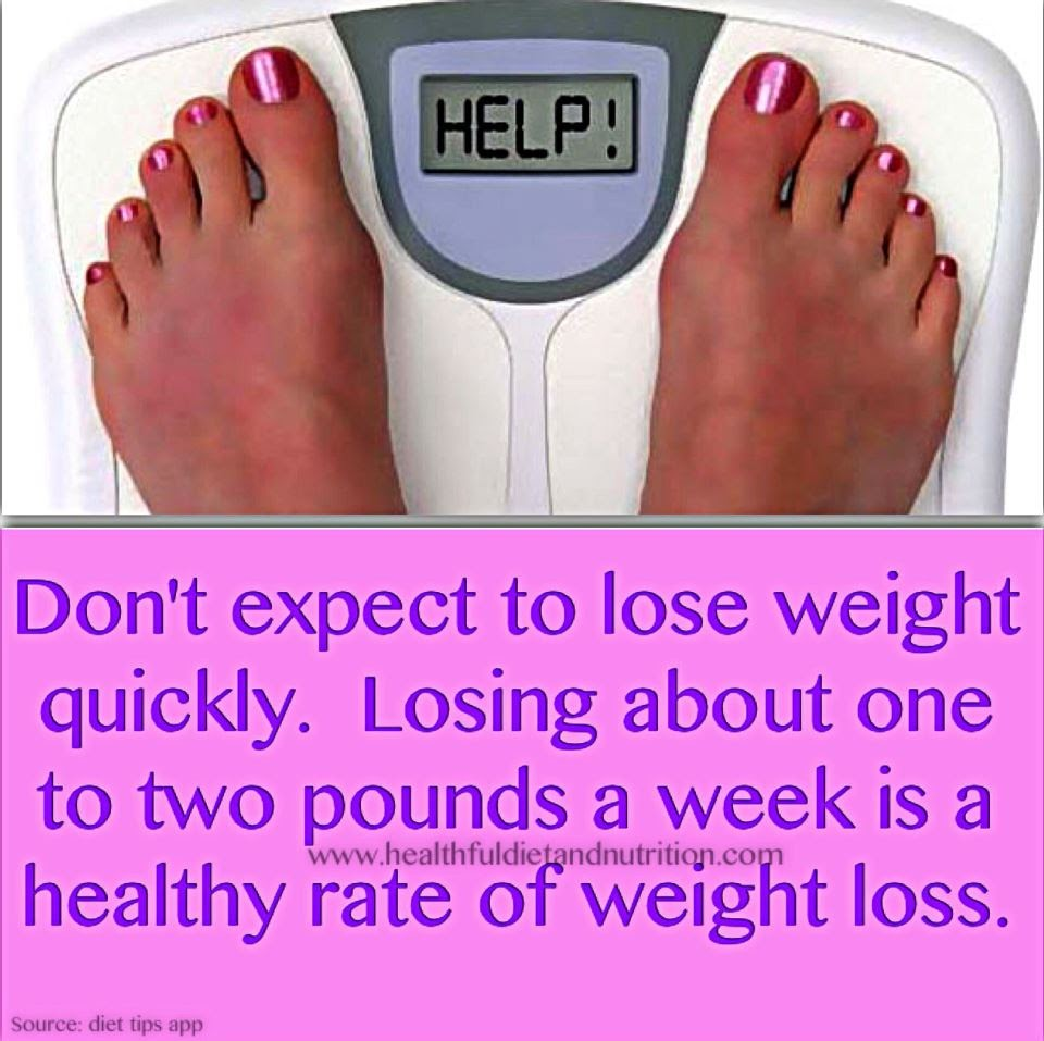 Don't Expect To Lose Weight Quickly