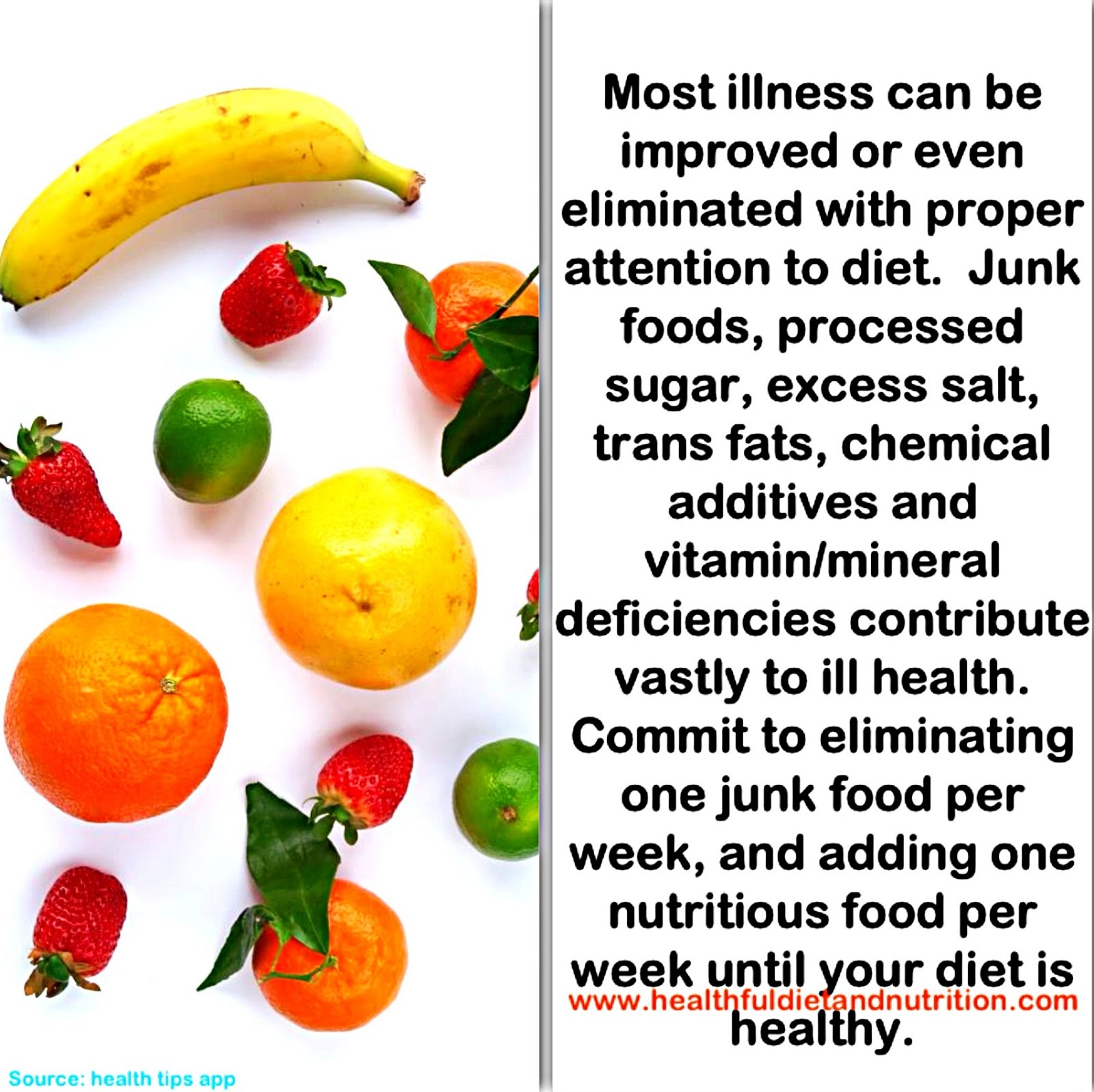 Eliminate One Junk Food Per Week and add one nutritious food per week