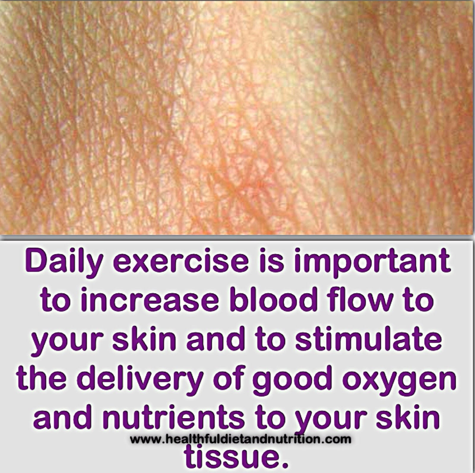Daily Exercise and Skin Health