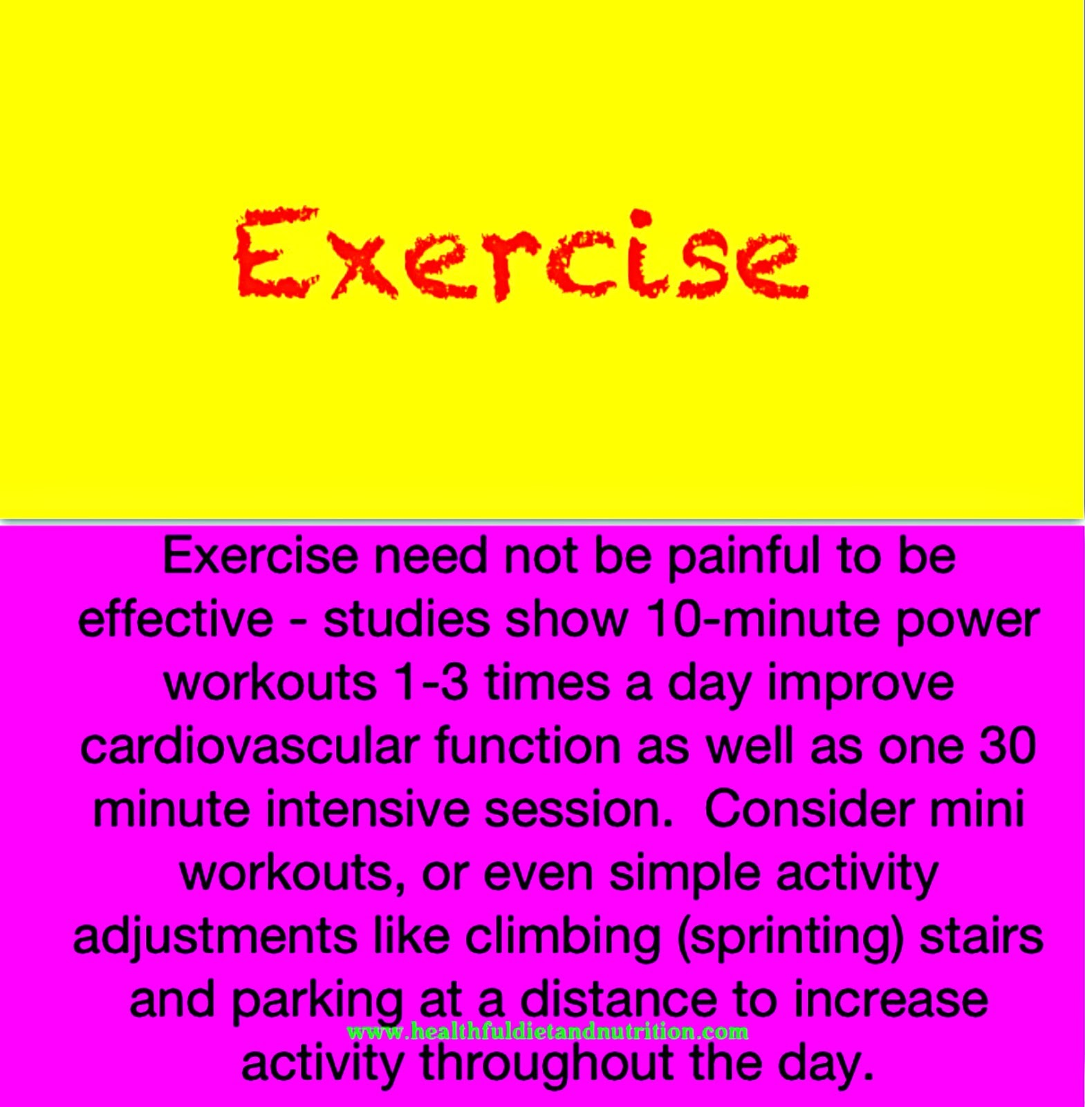 Exercise Effectively
