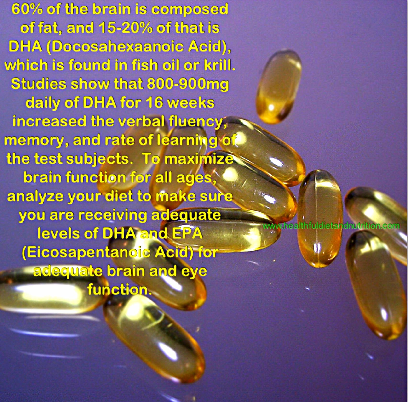Brain Health and Fish Oil (DHA)