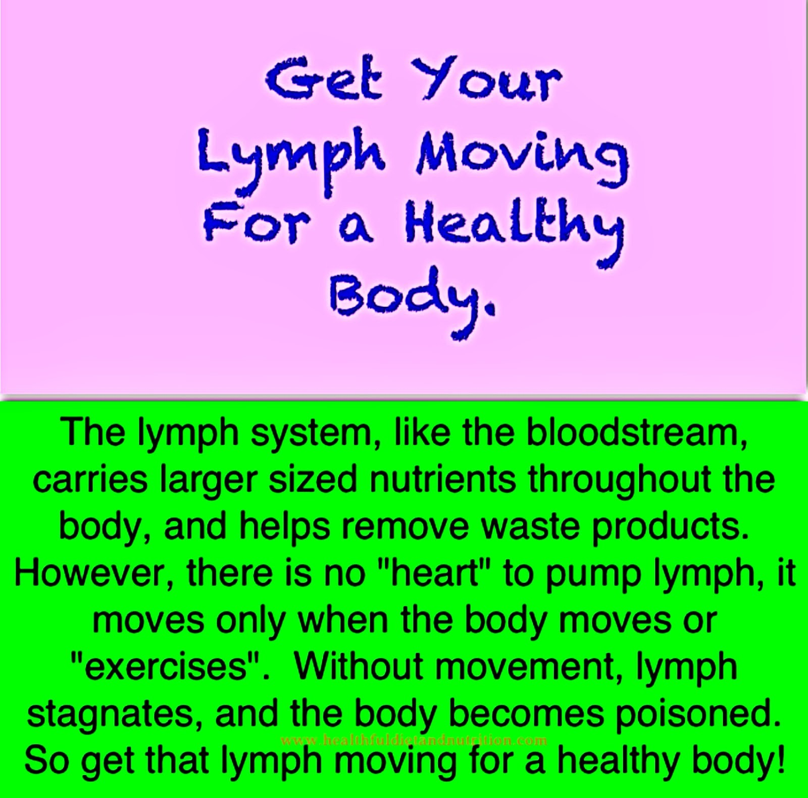 Get Your Lymph Moving For A Healthy Body