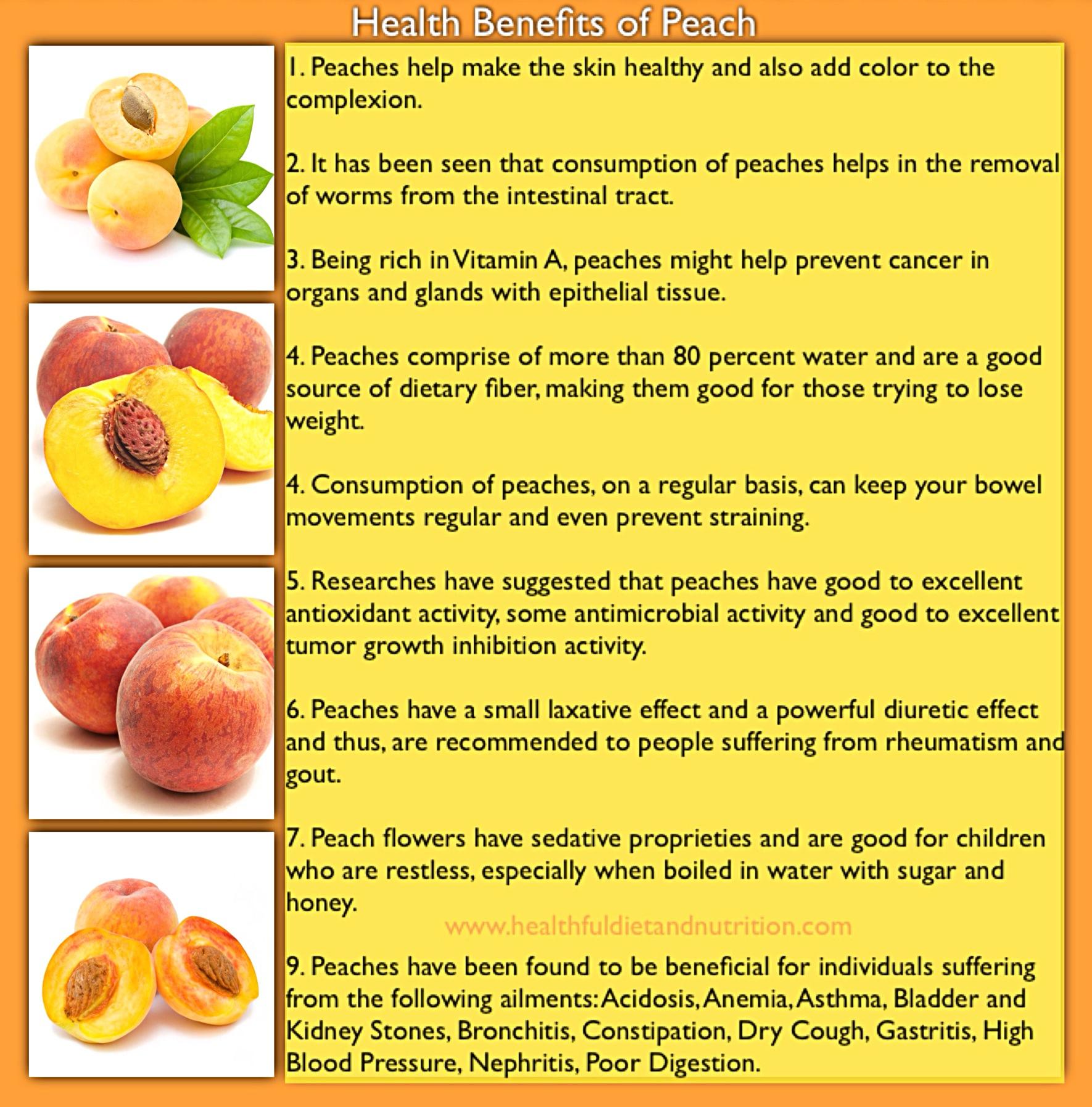 Health Benefits of Peach Fruit