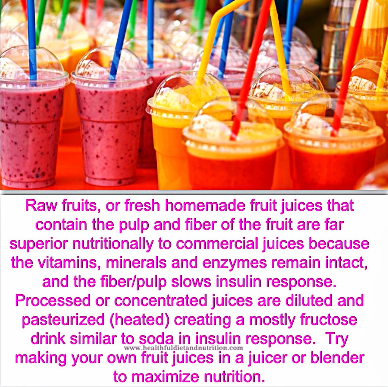 Make Your Own Fruit Juices To Maximize Health