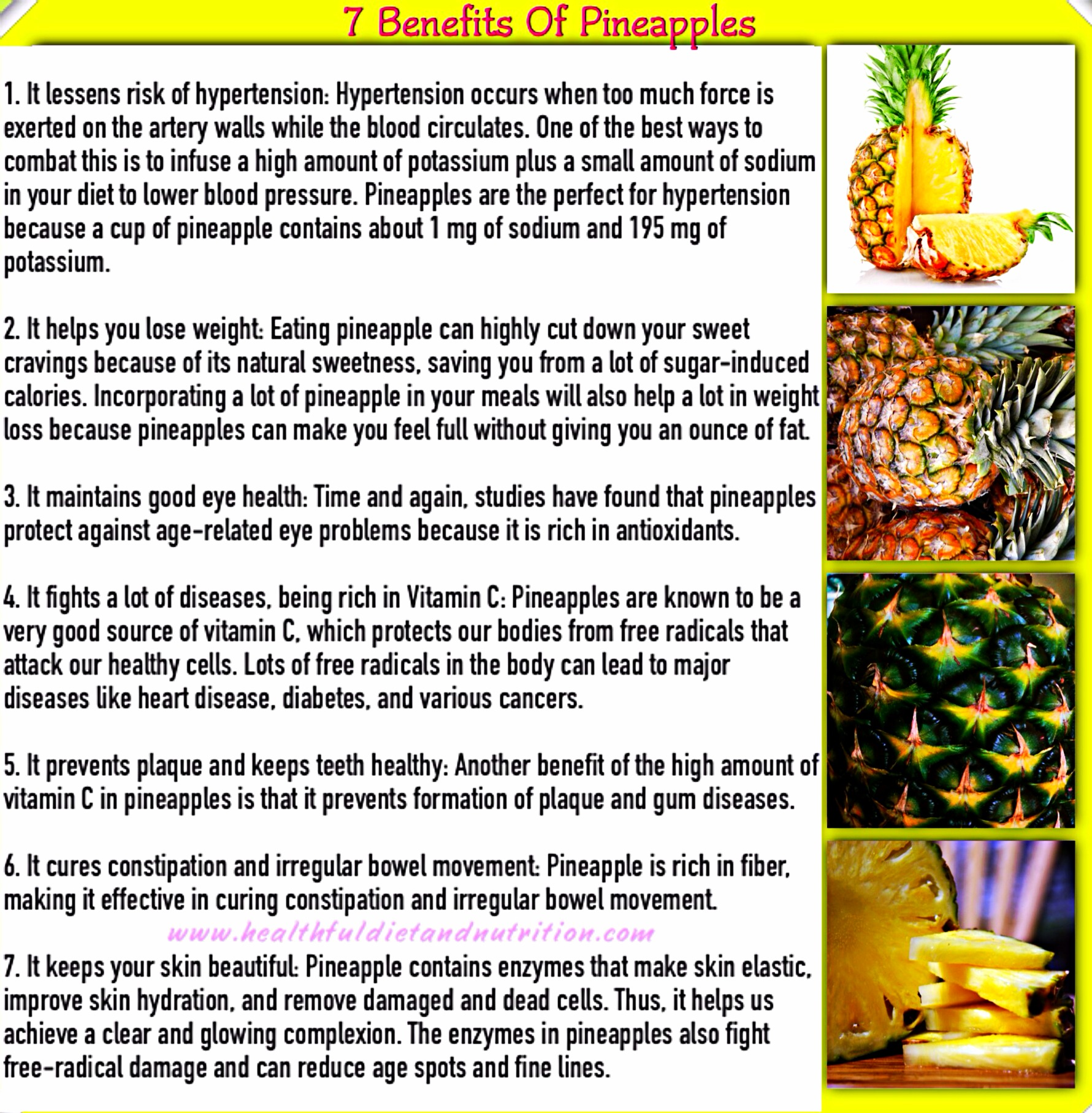 7 Benefits of Pineapples