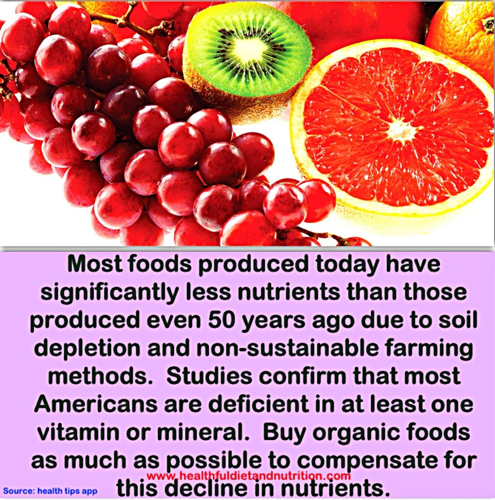 Eat Organic Foods To Compensate For Decline of Nutrients